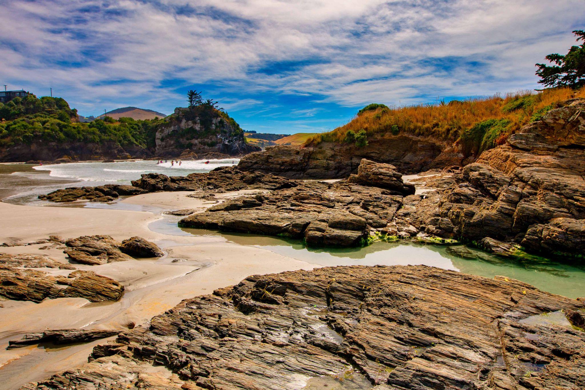 Brighton Beach, Dunedin, South Island, New Zealand