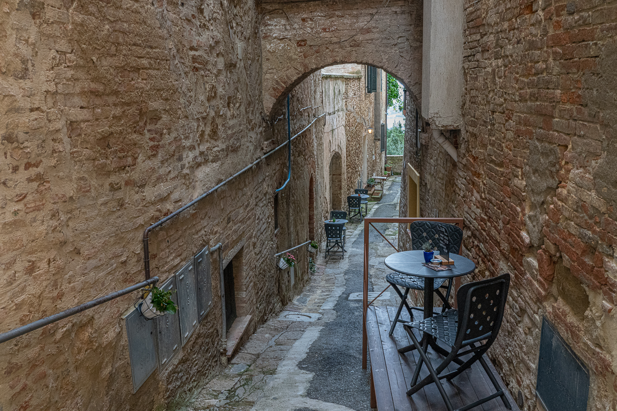 Coffee moment in Montepulciano, Italy