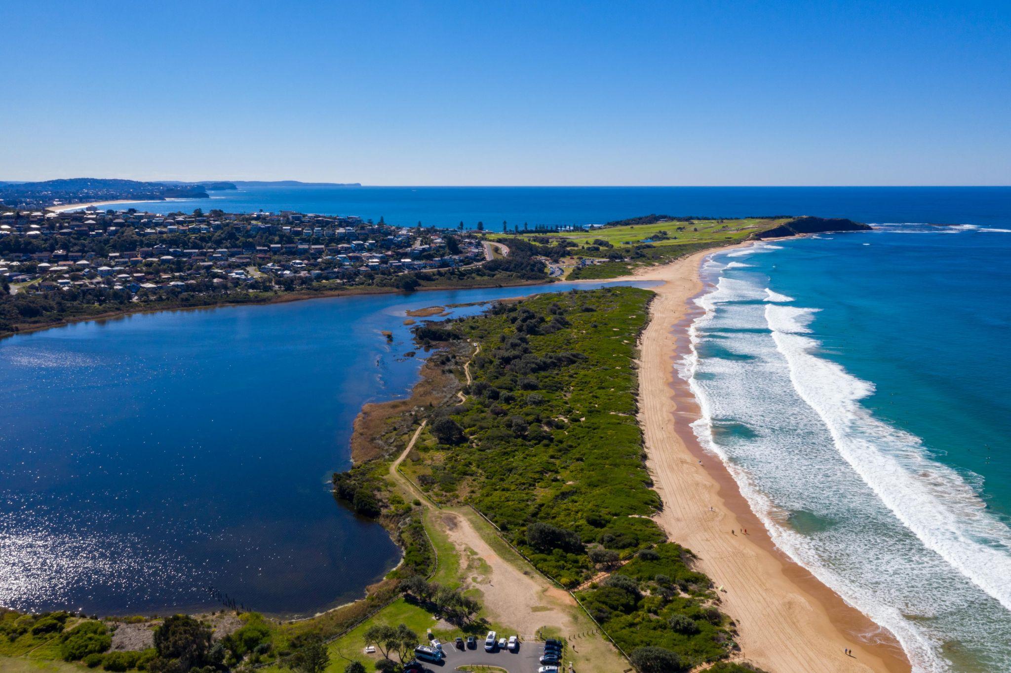 Dee Why Lagoon and surf beach Northern Beaches NSW, Australia