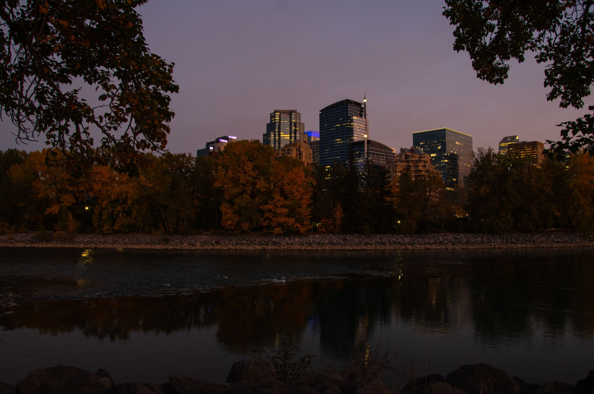 Downtown Calgary from Memorial Drive, Canada