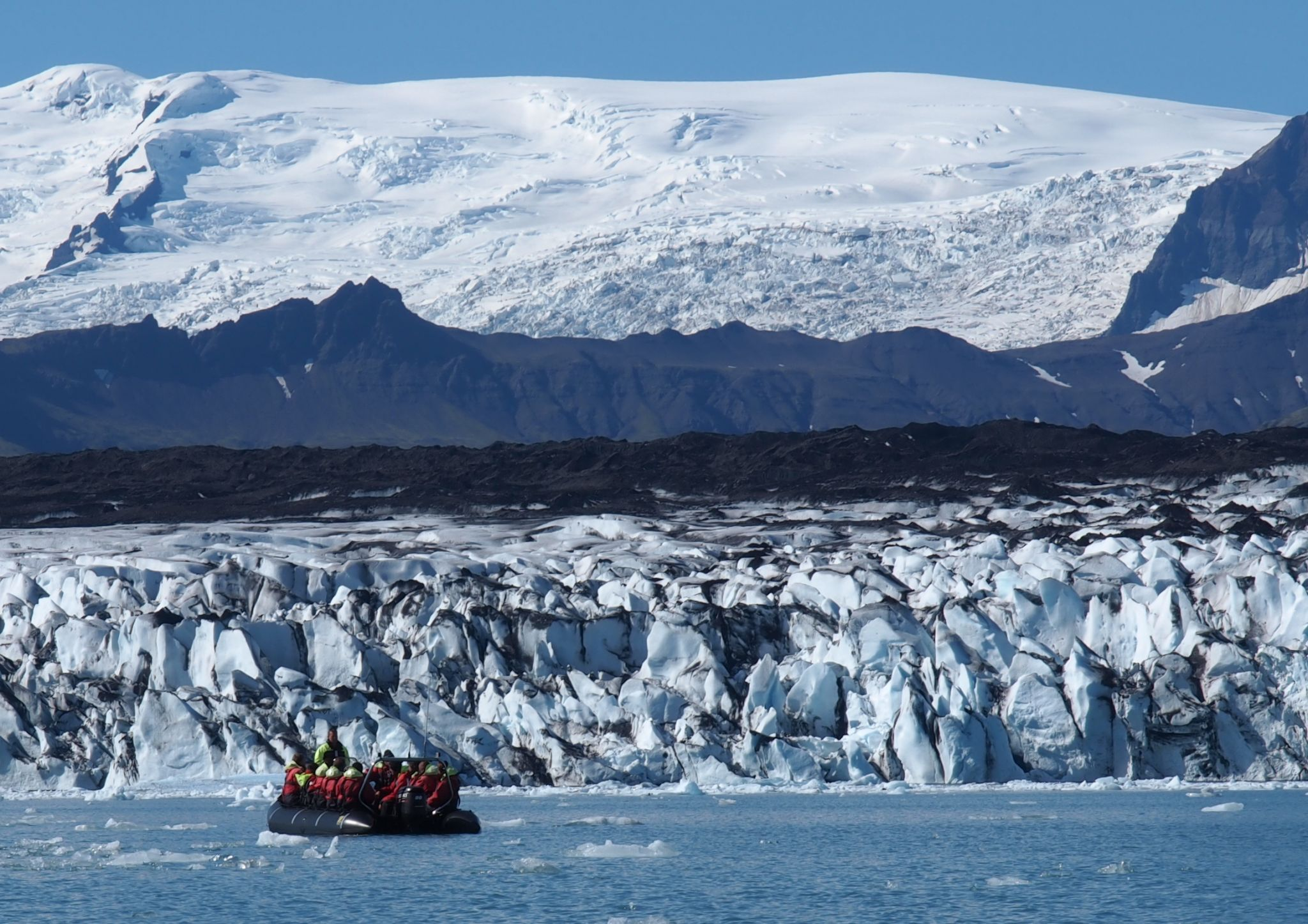 Boat Tour on Glacier Lagoon Jökulsarlon, Iceland