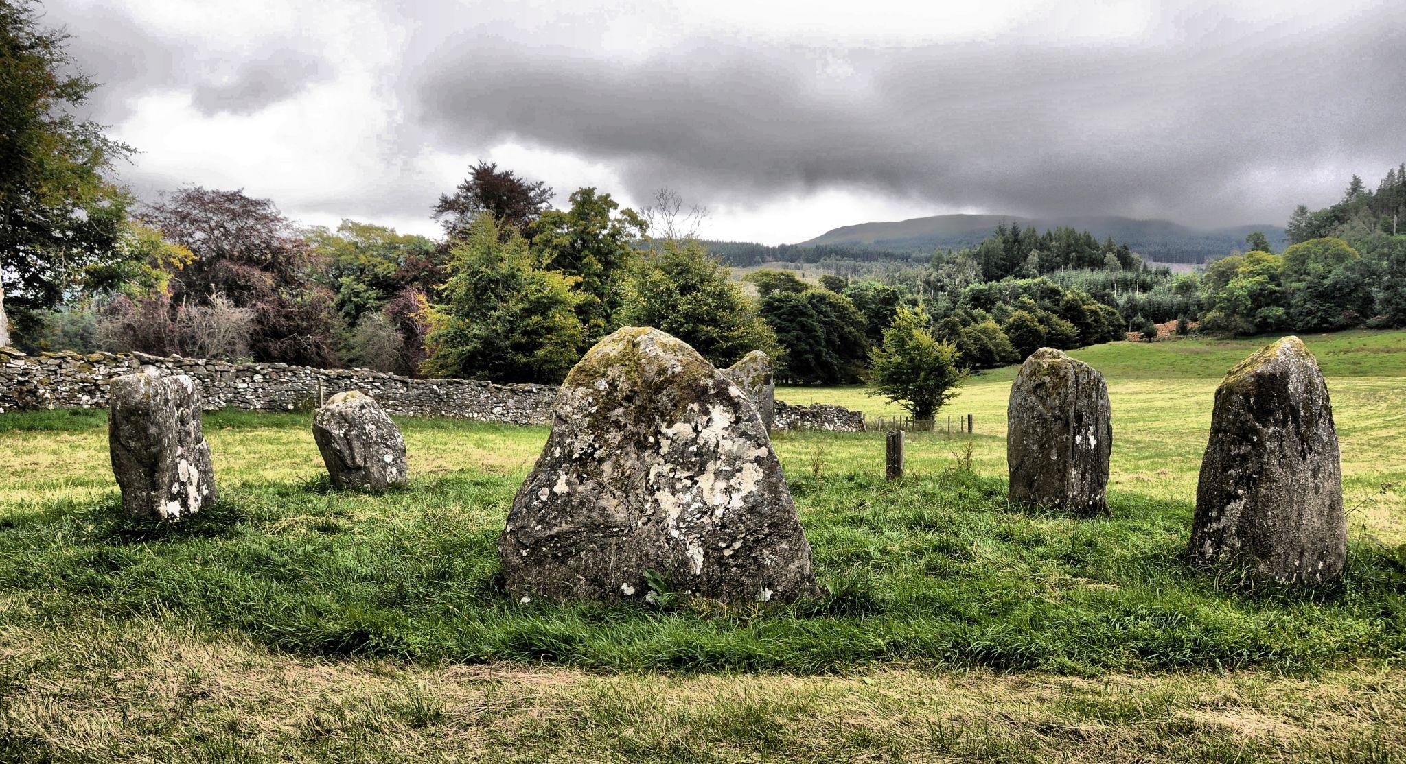 Kinnell Stone Circle at Killin, Scotland., United Kingdom