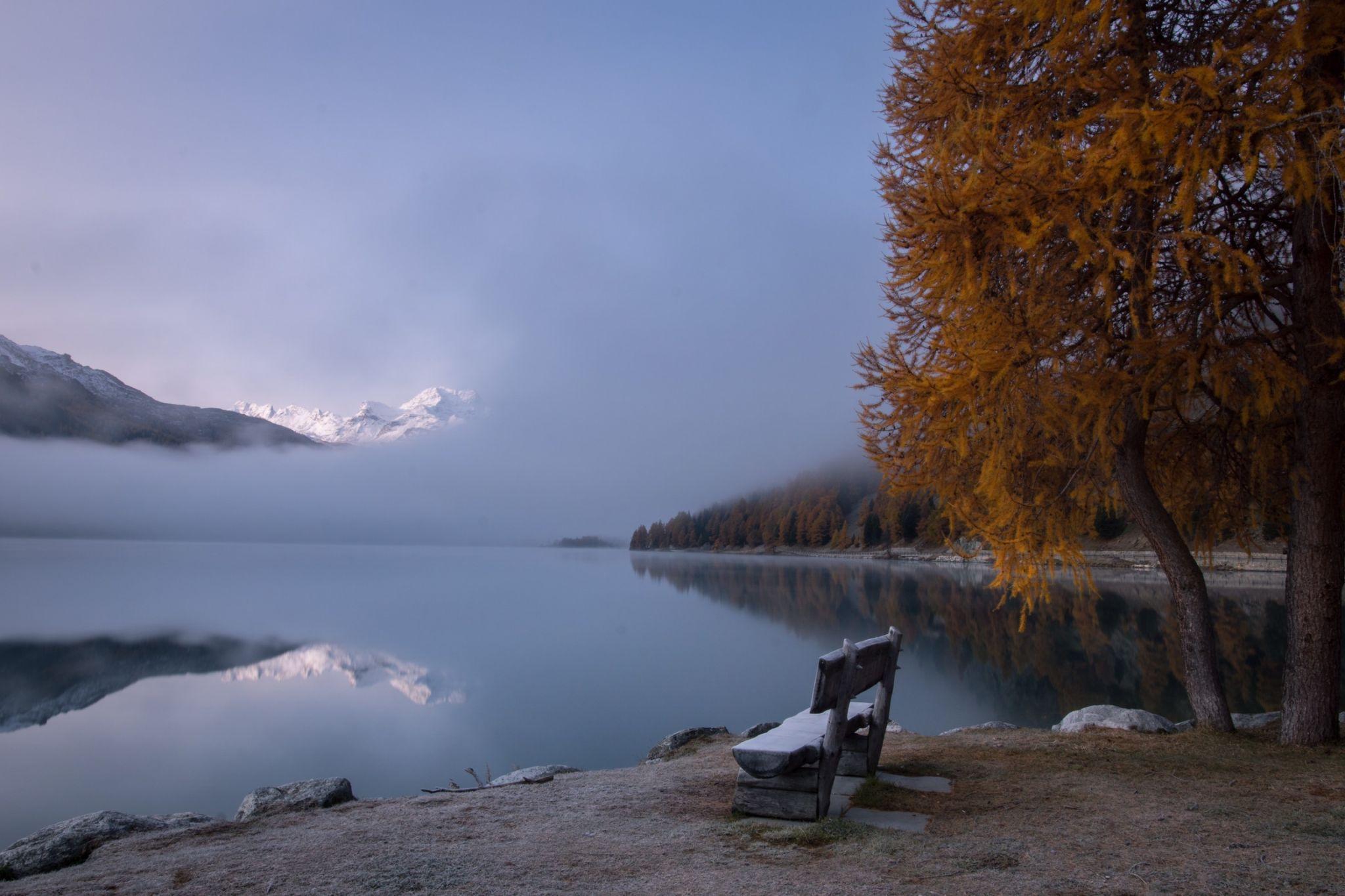 Lake Silvaplana, Pappaloù, Switzerland