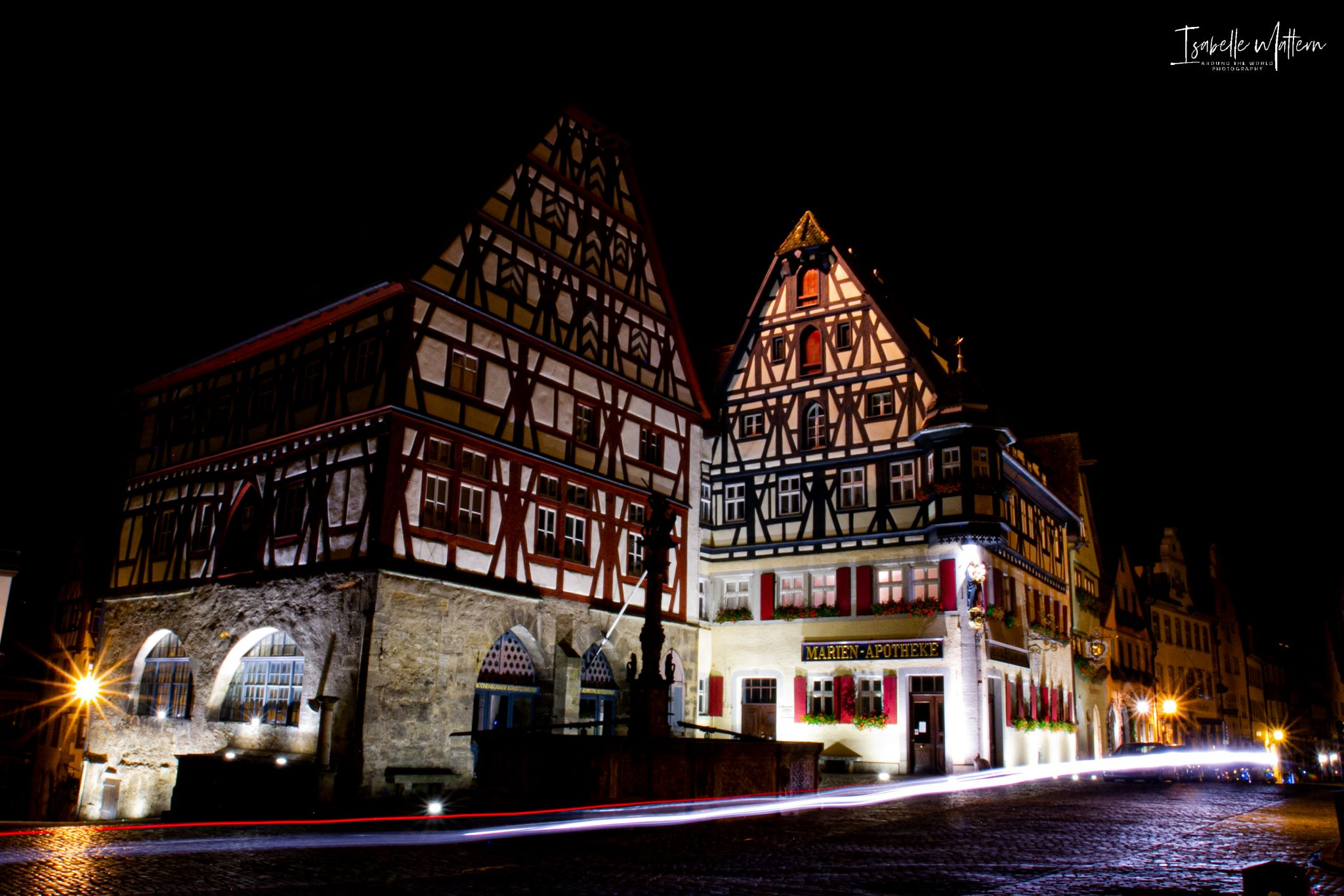 Market square in Rothenburg, Germany