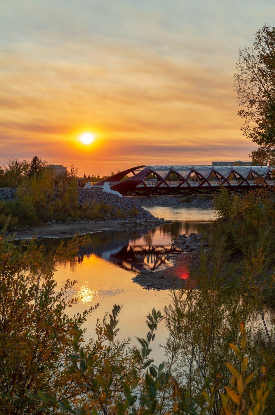 Peace Bridge - from Prince's Island Park, Canada