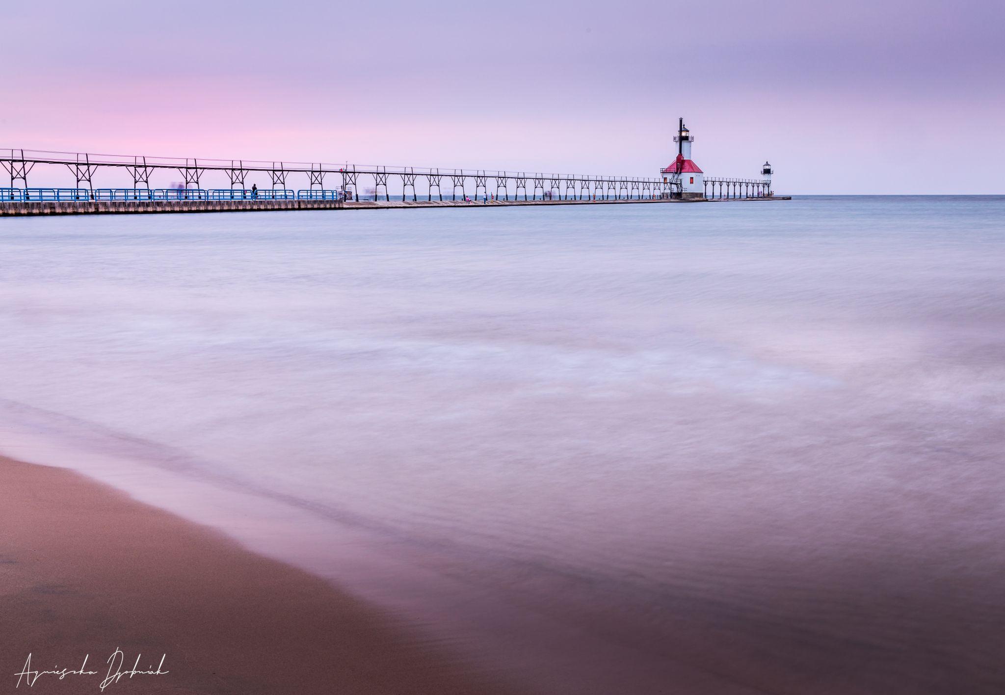 St. Joseph North Pier Outer Lighthouse, Michigan., USA