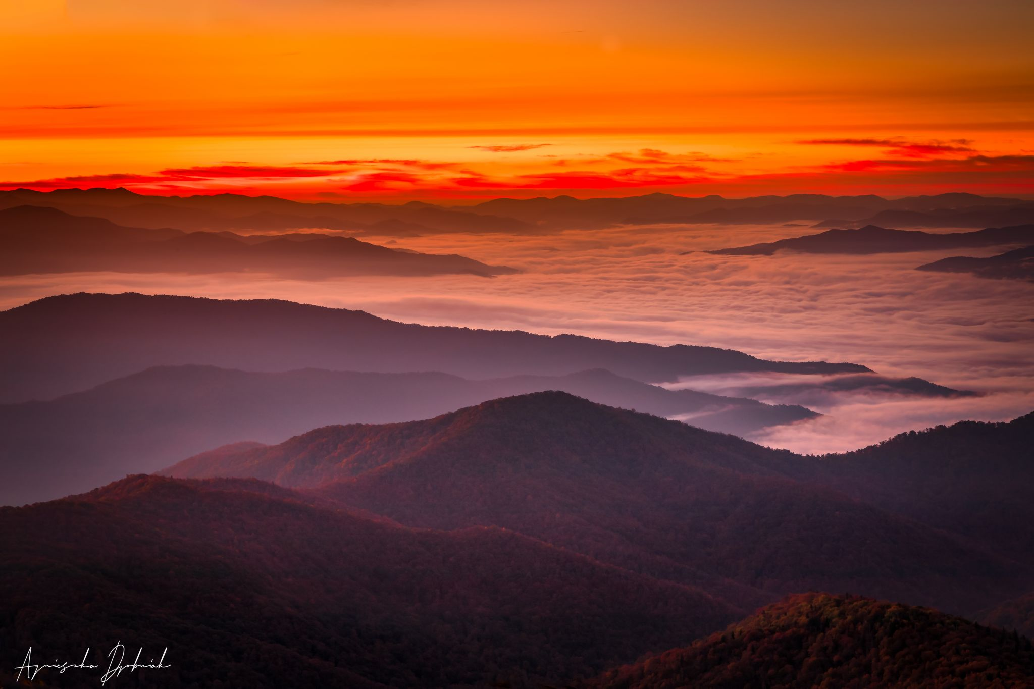 Sunrise at Clingmans Dome, USA