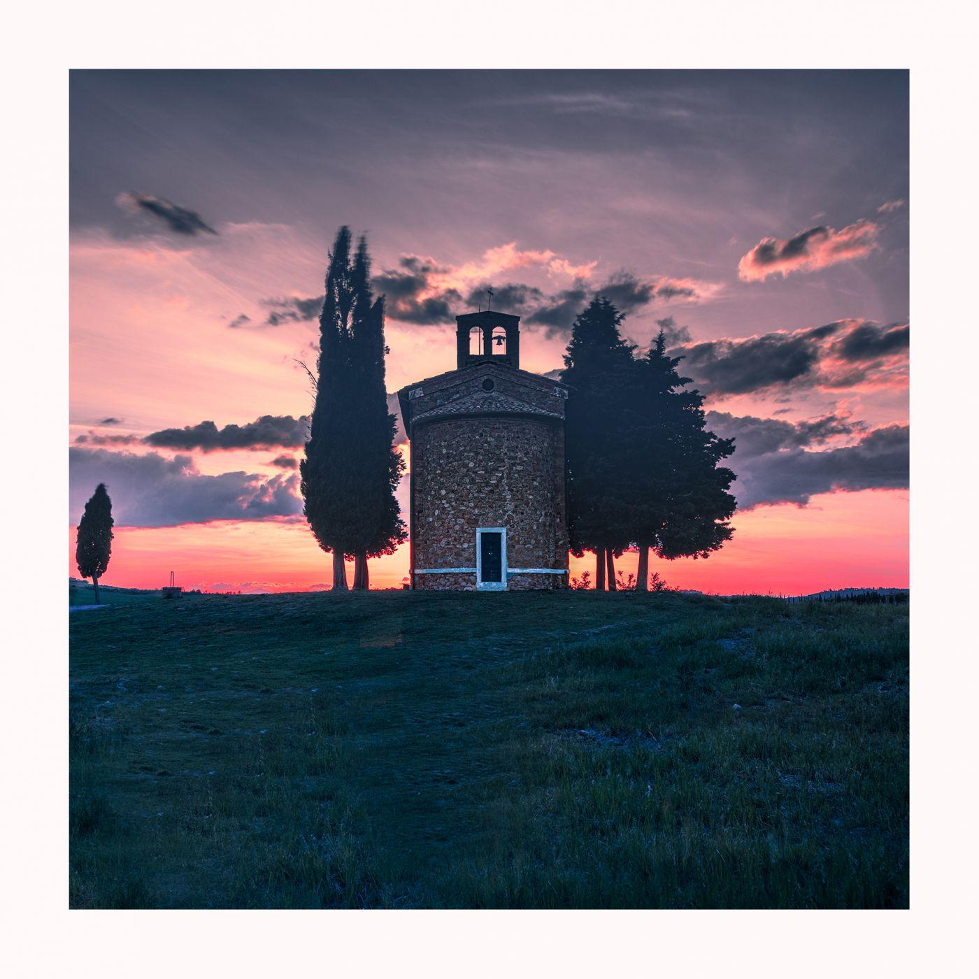 Sunset on Vitaleta, Italy