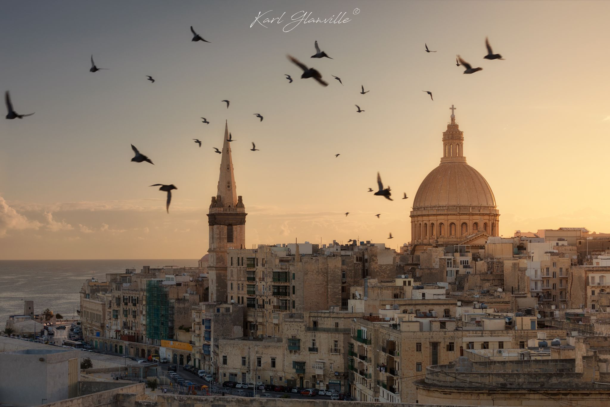 Valletta Skyline from St. Michael Bastion, Malta