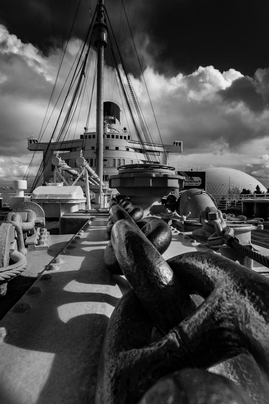 Anchor Chain Queen Mary, Long Beach, California, USA