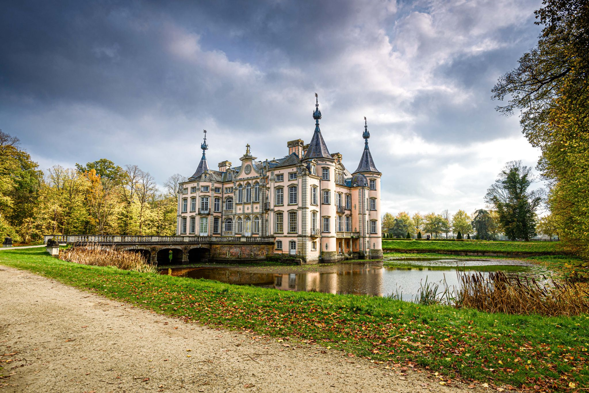 Poeke Castle in Flanders, Belgium