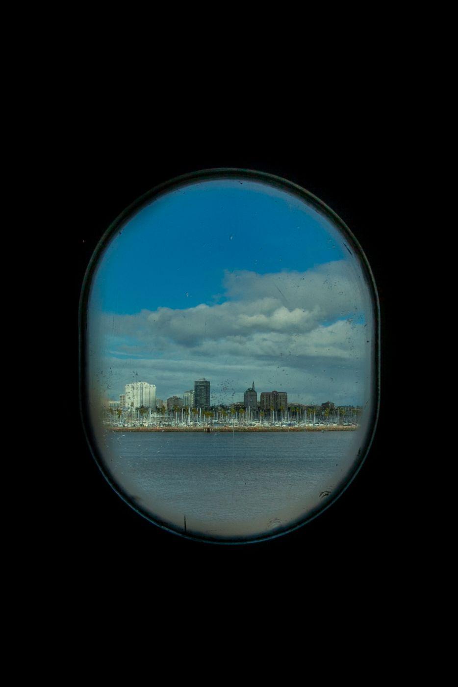 Porthole, Queen Mary, Long Beach, USA