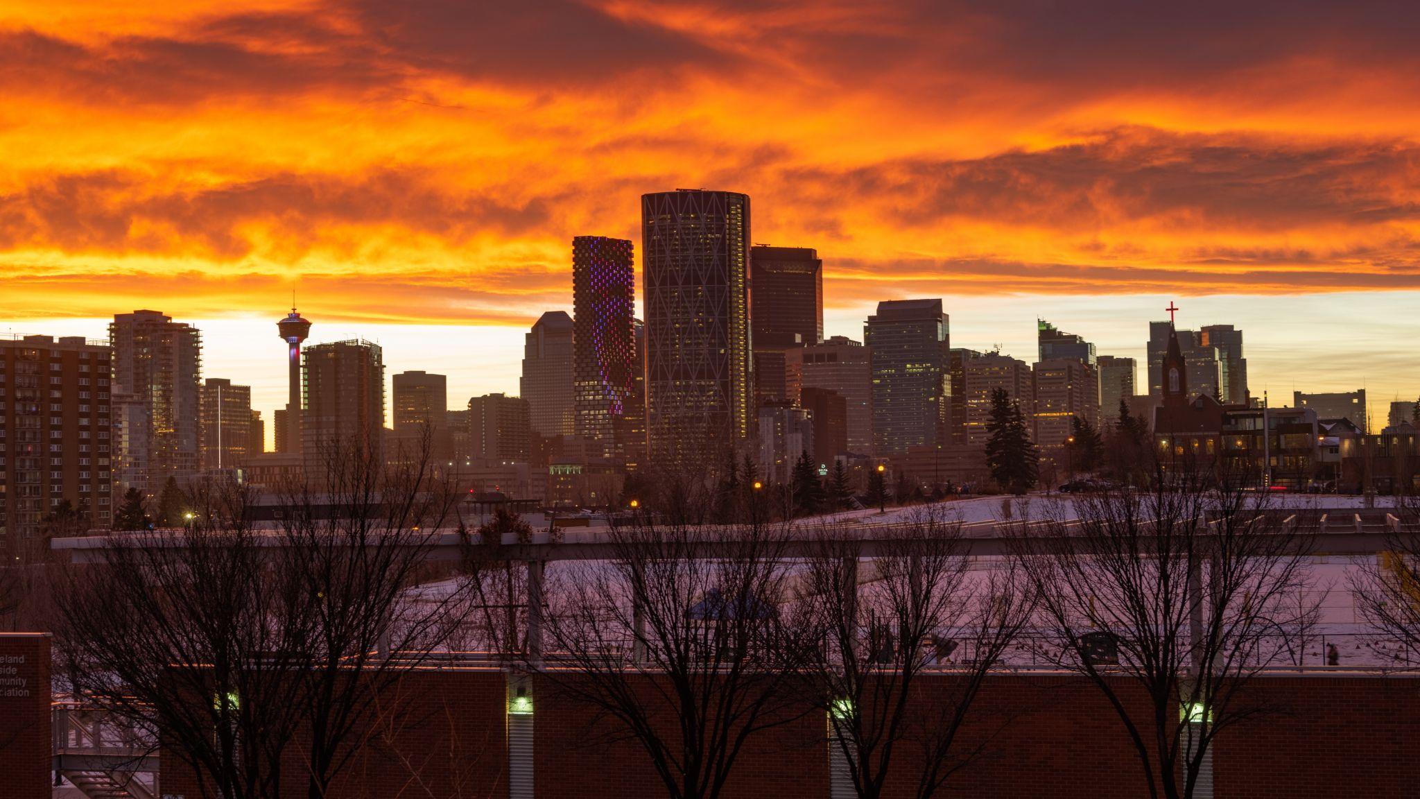 Calgary Downtown - from Bridgeland, Canada