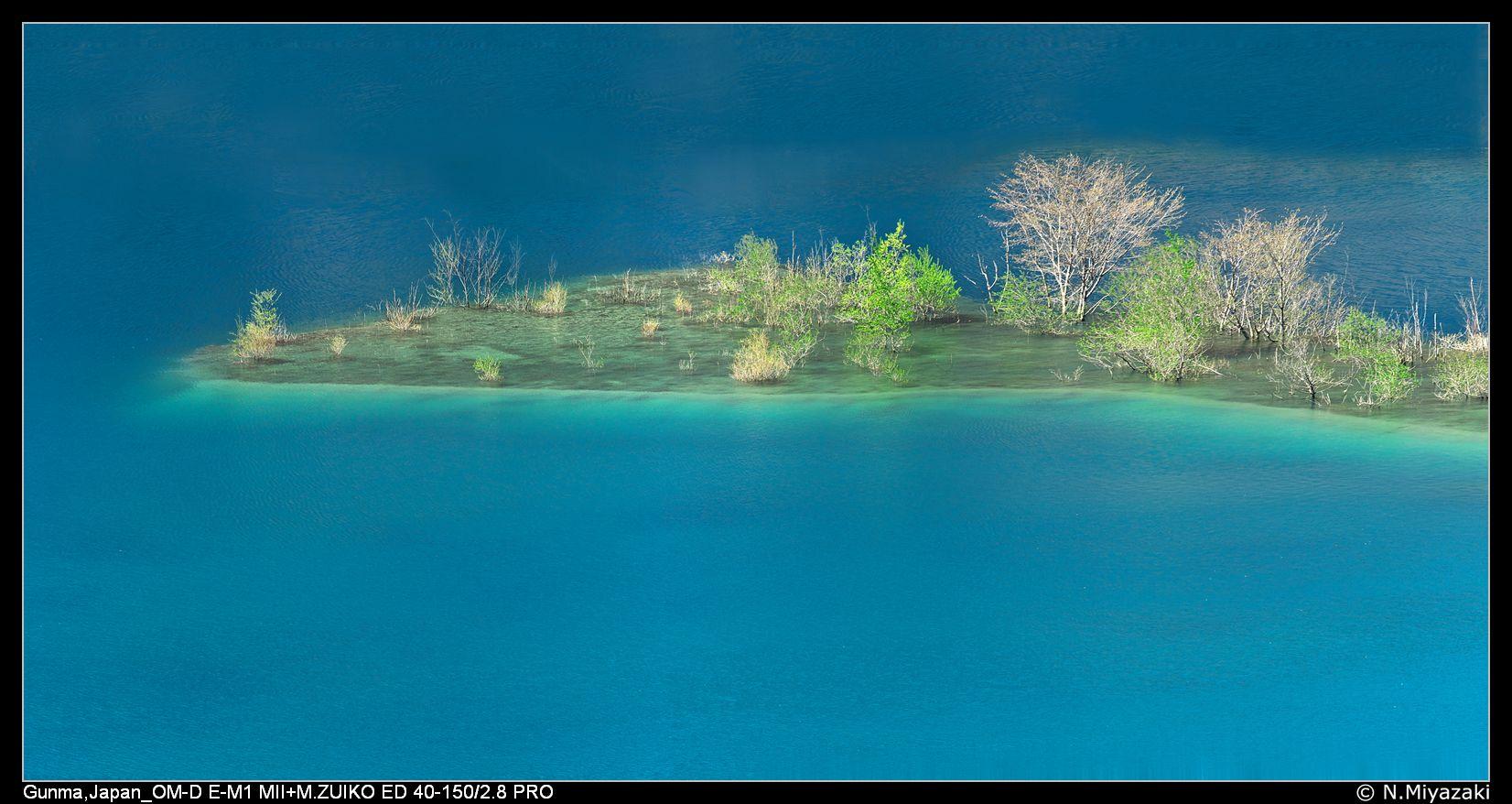 Lake Okushima, 奥四万湖, Japan