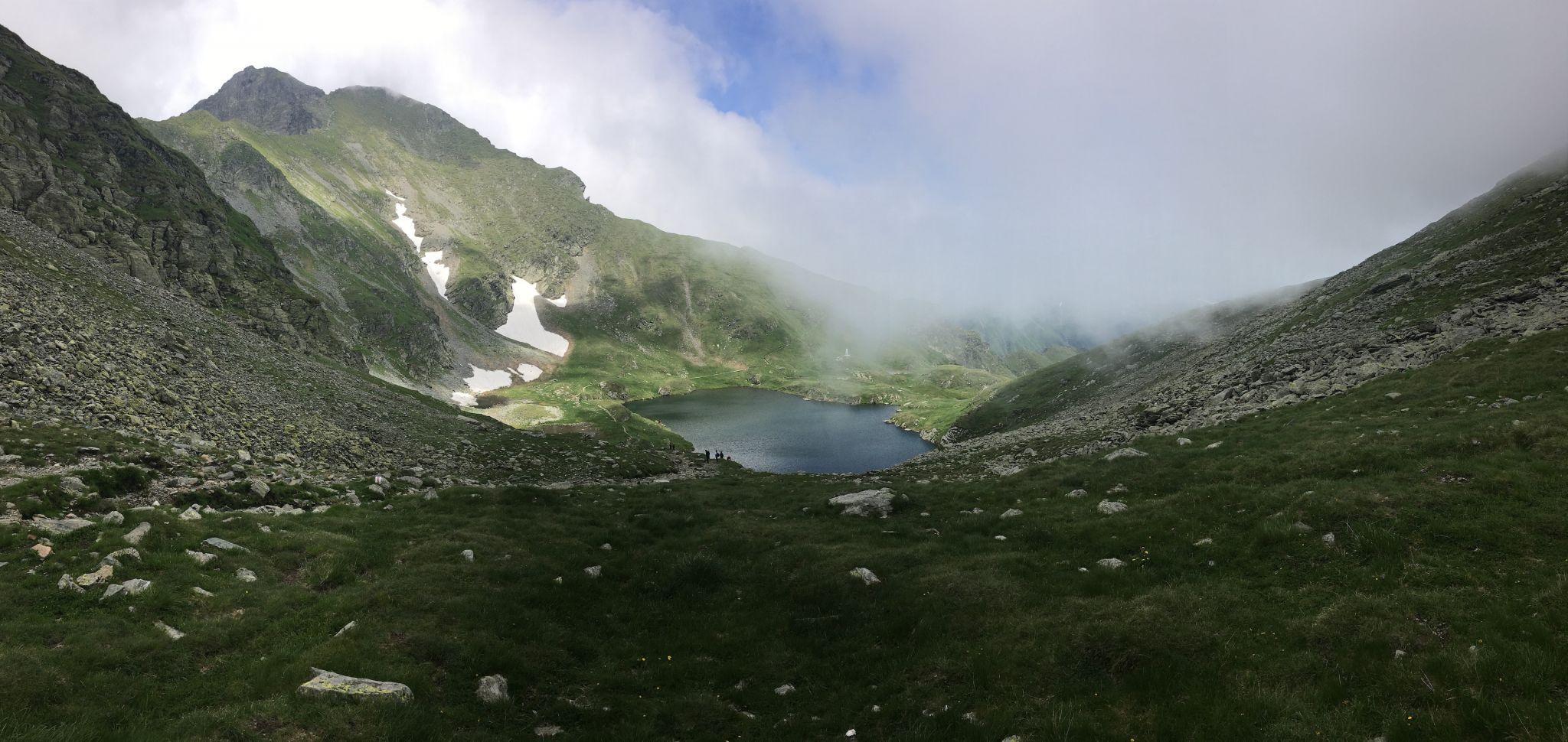 Capra Lake overview, Romania