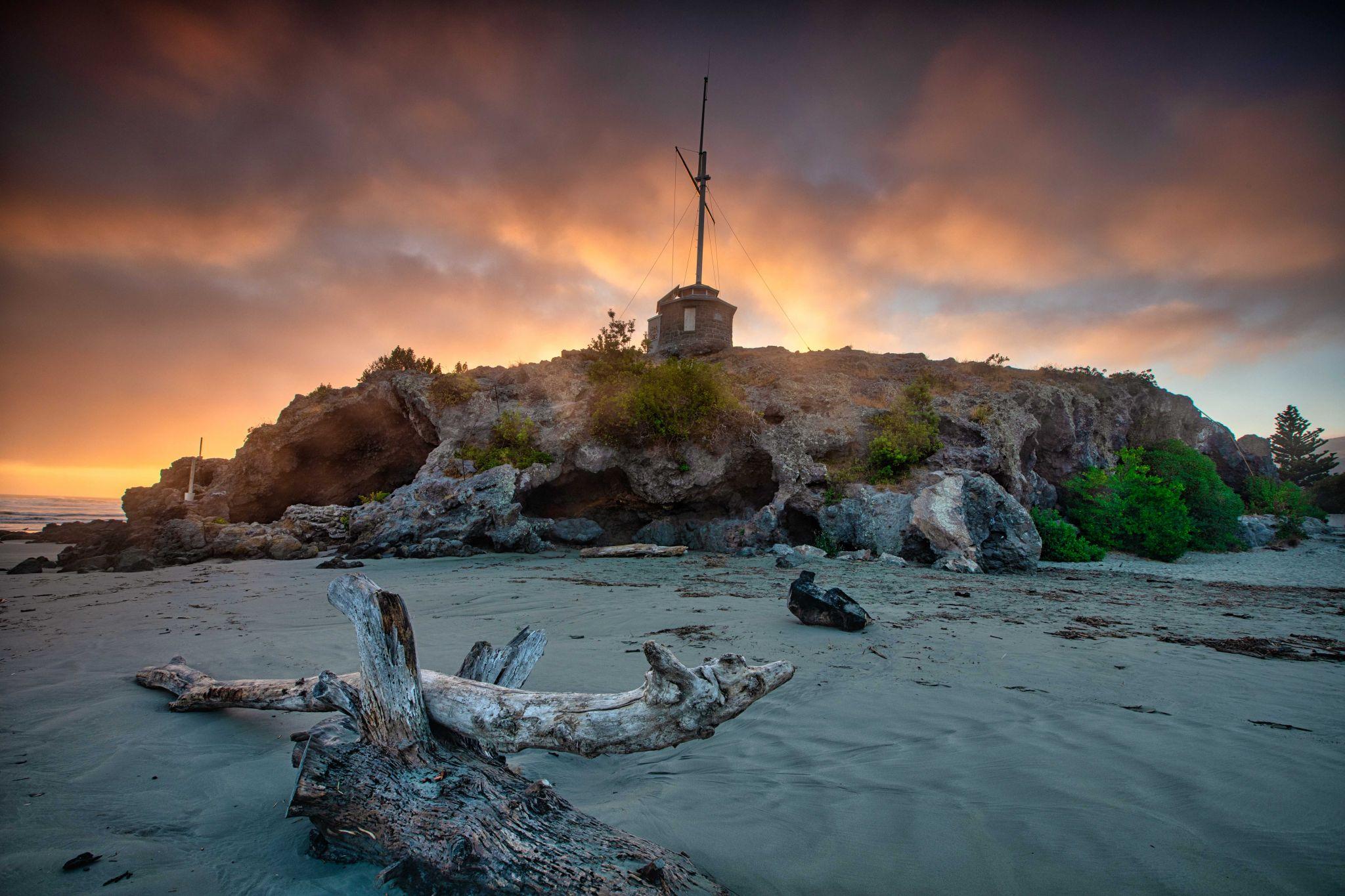 Cave Rock Tuawera Sumner Christchurch South Island, New Zealand