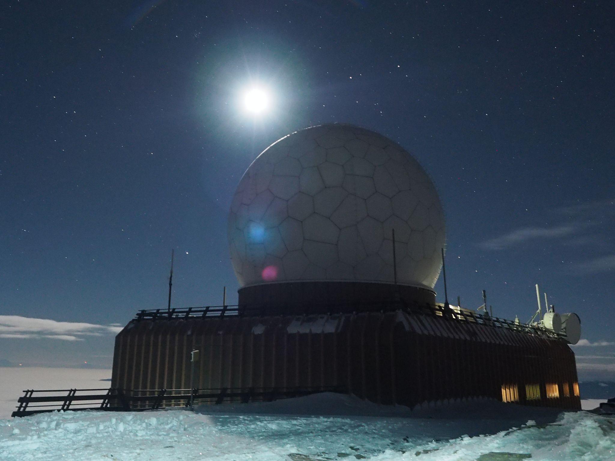 Goldhaube - military and civil air radar station, Austria