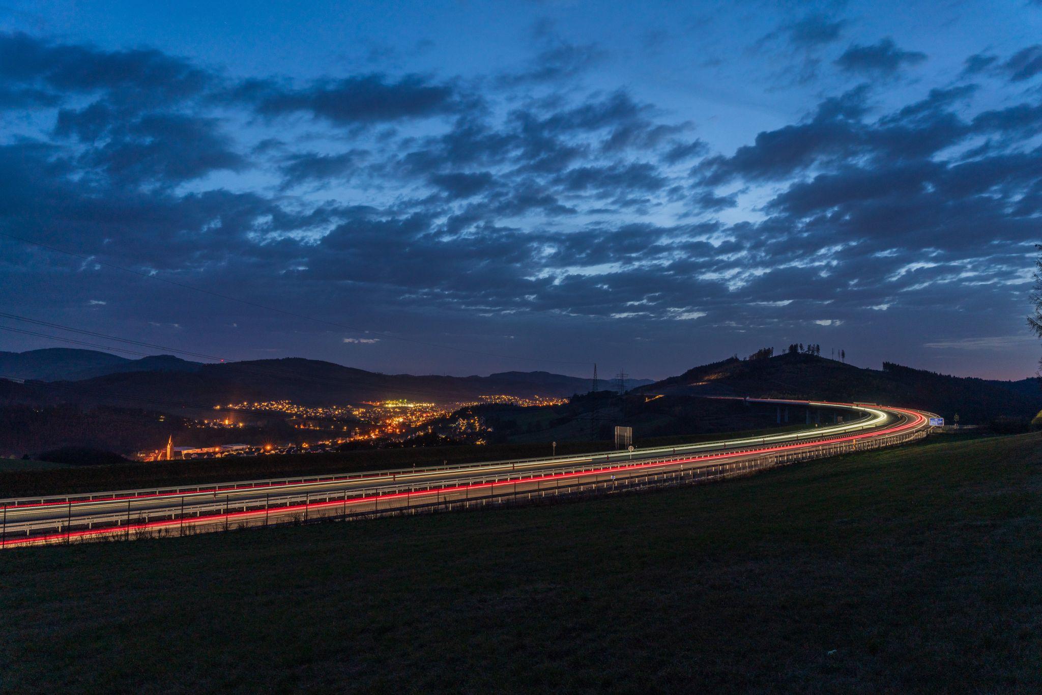 Highway near Nuttlar (Sauerland), Germany, Germany