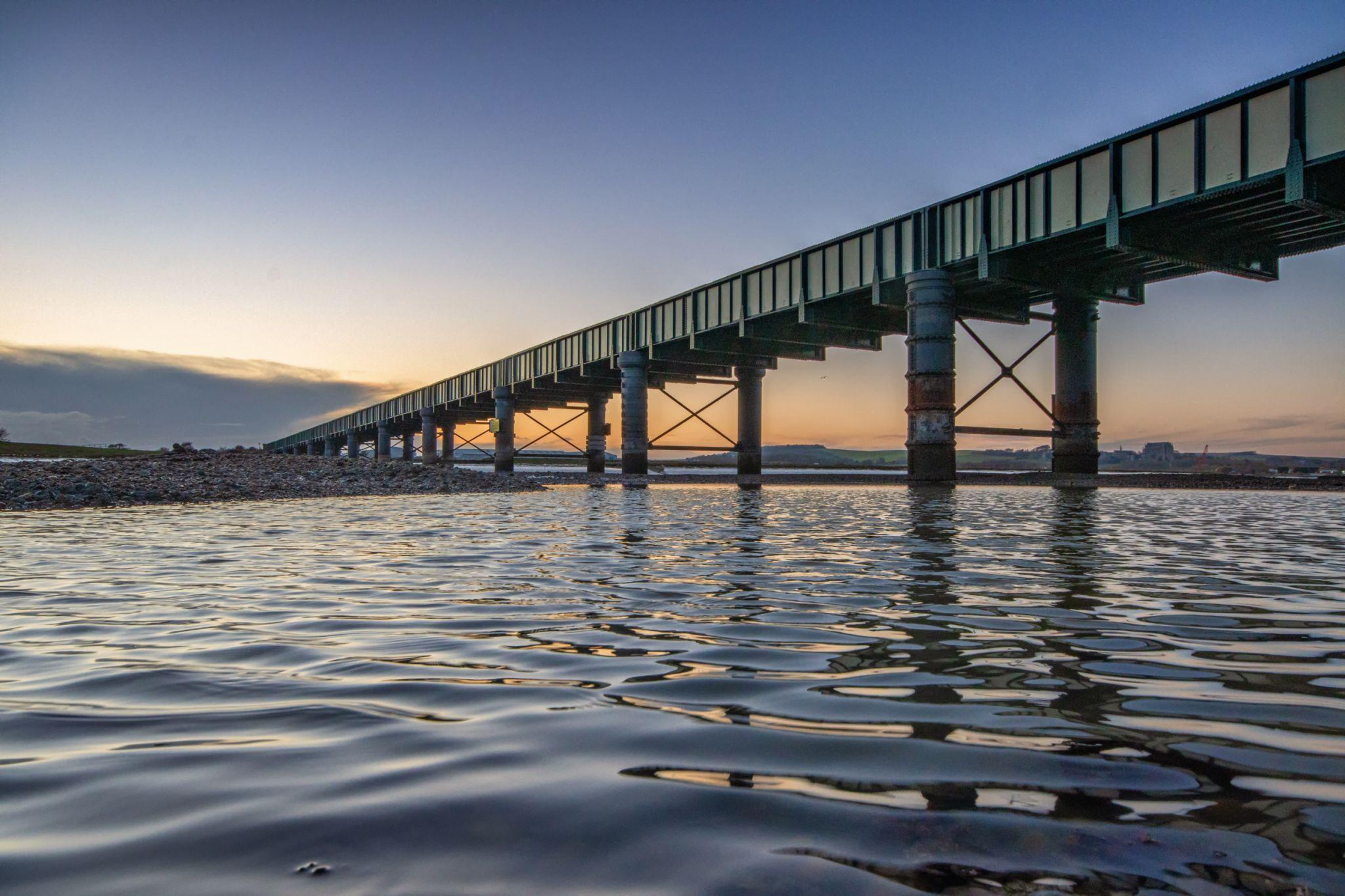 Railway Bridge across River Adur, Shoreham, United Kingdom