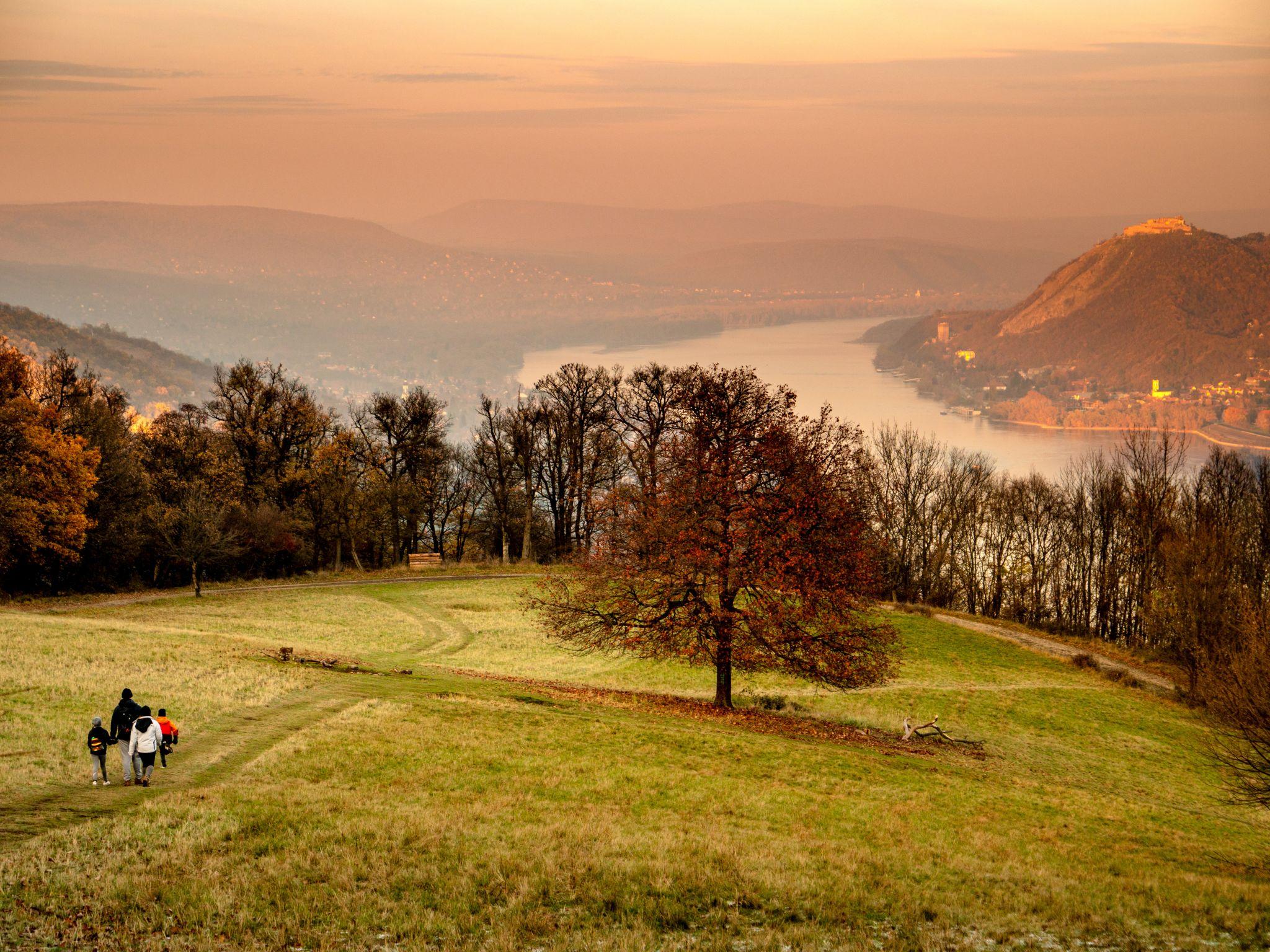 Sundown in Visegrád Mountains, Hungary