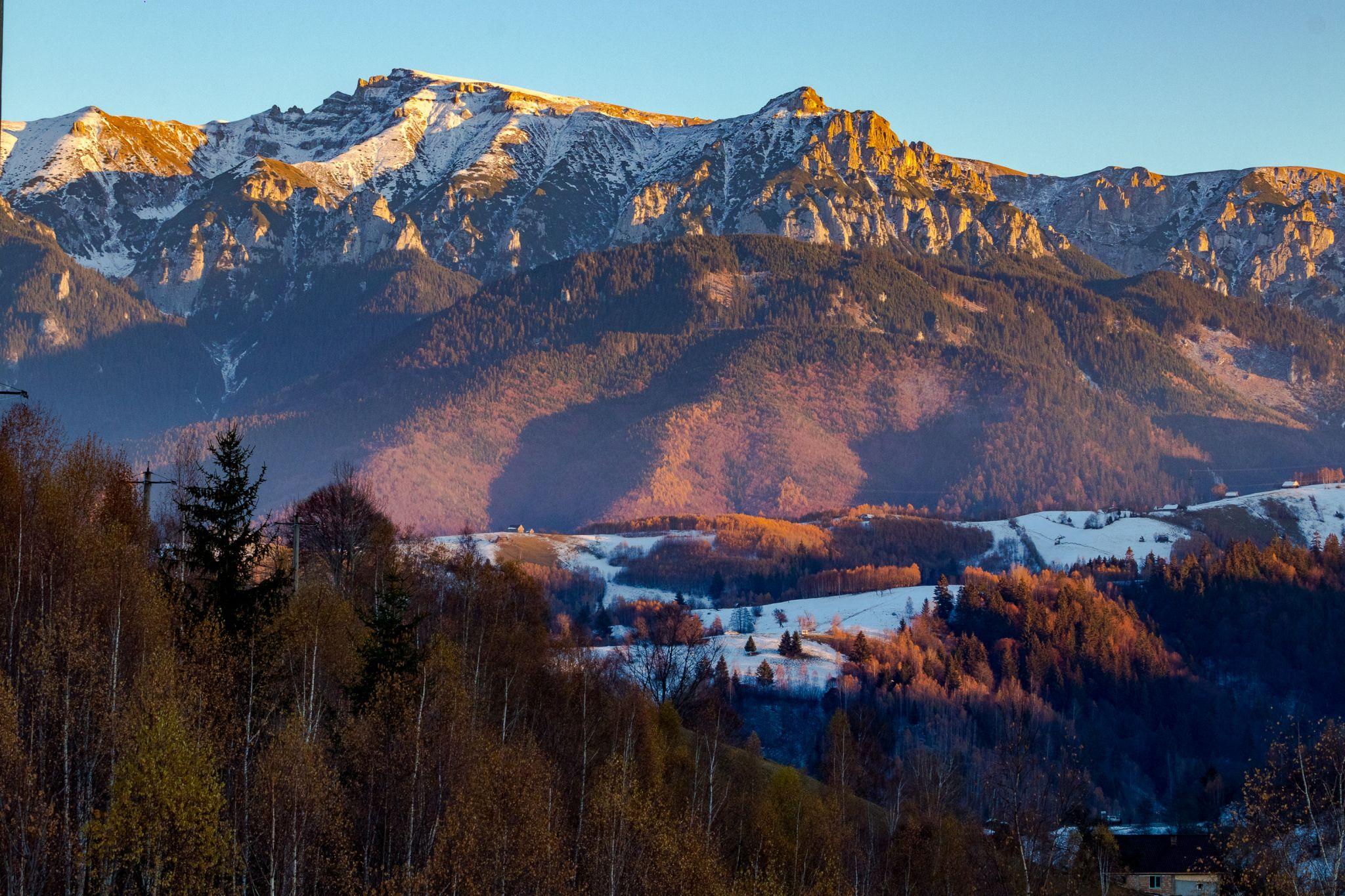 View over majestic Bucegi mountains, Romania