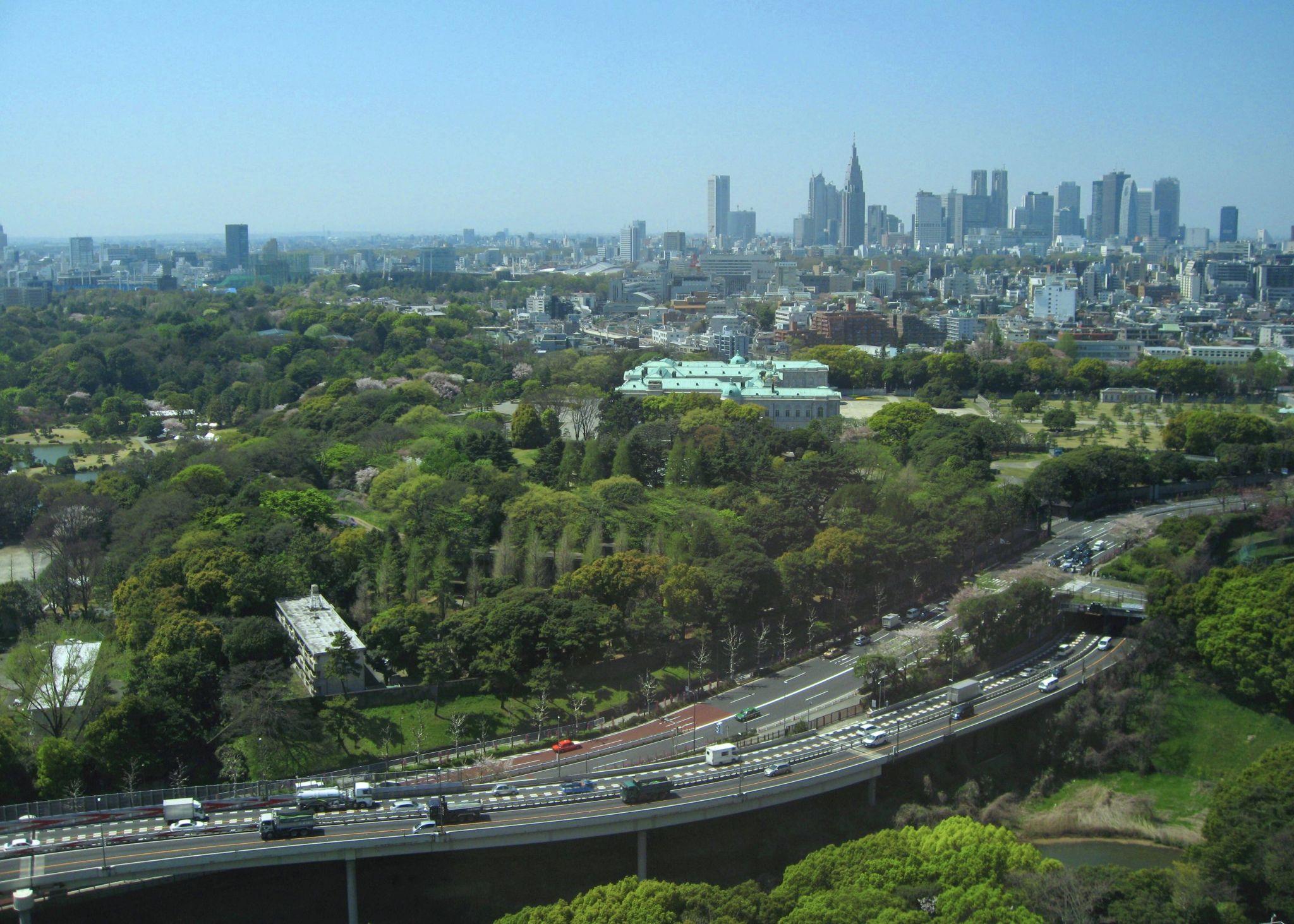 Distant View of Shinjuku (from Hotel New Otani), Japan