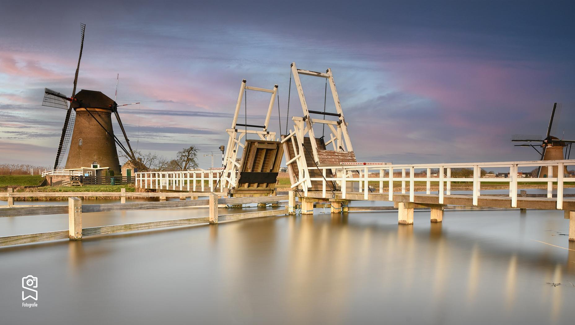 drawbridge Kinderdijk, Netherlands