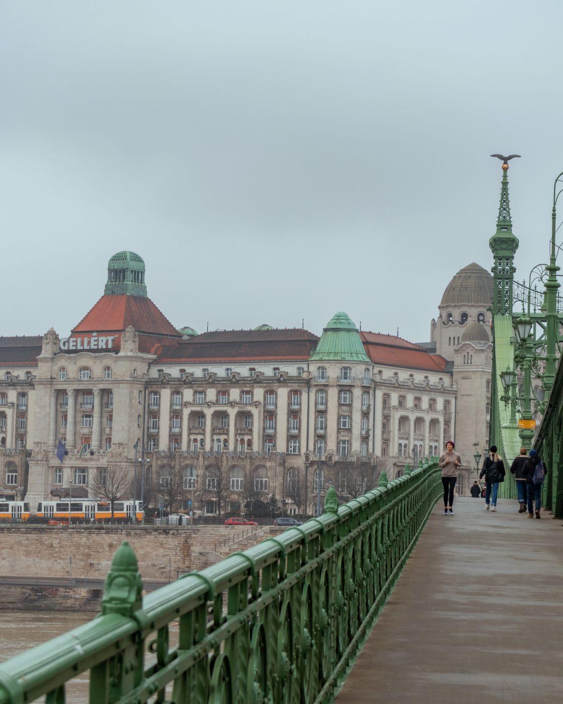 Liberty Bridge and Gellért Thermal Bath, Hungary
