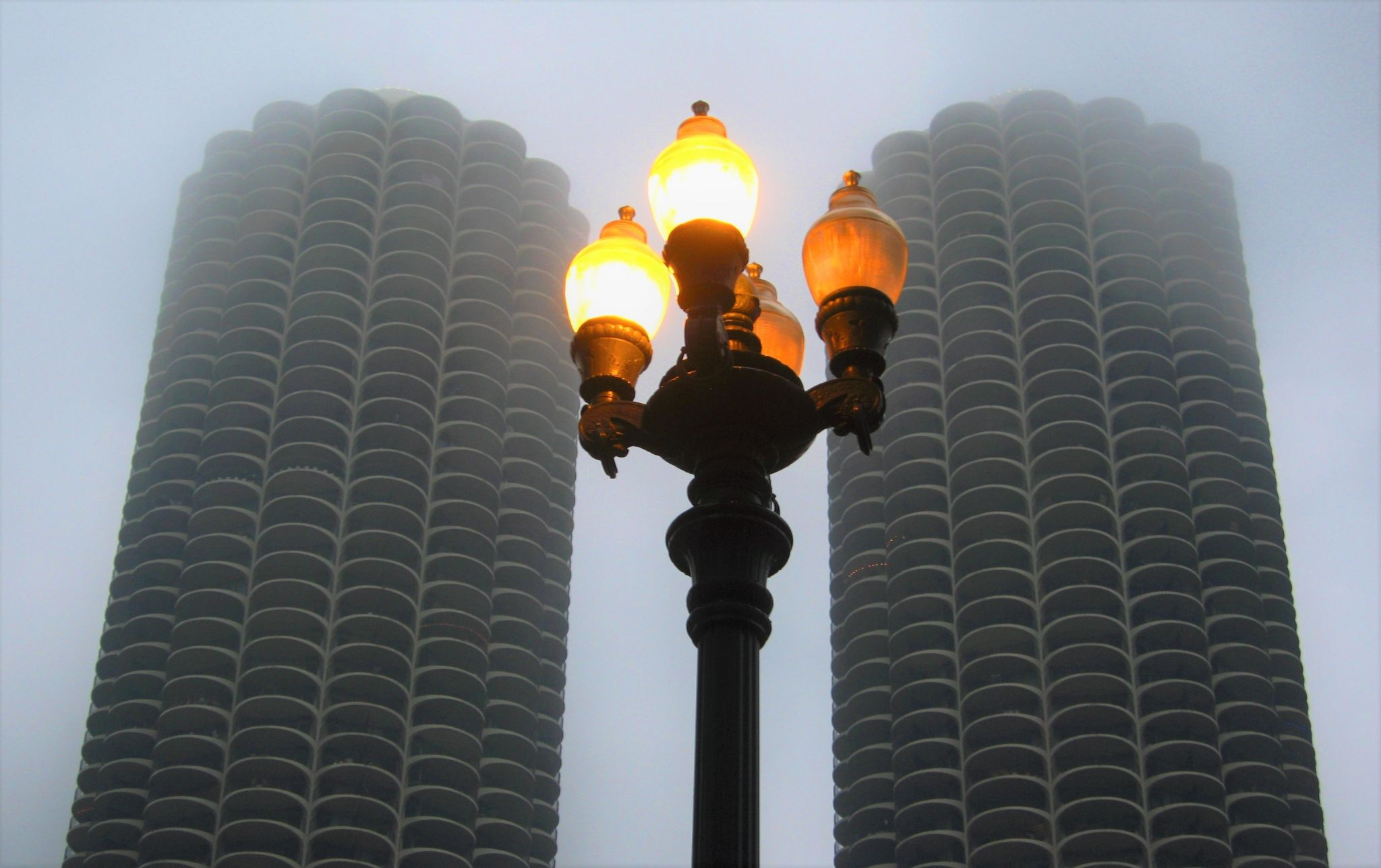 Marina City from N. State St., USA