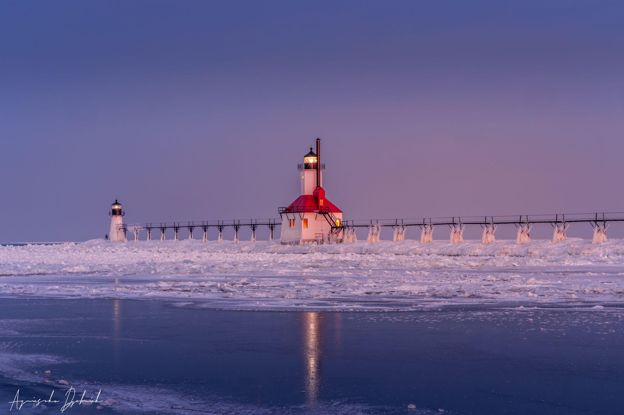 St Joseph North Pier Lighthouse, MI., USA