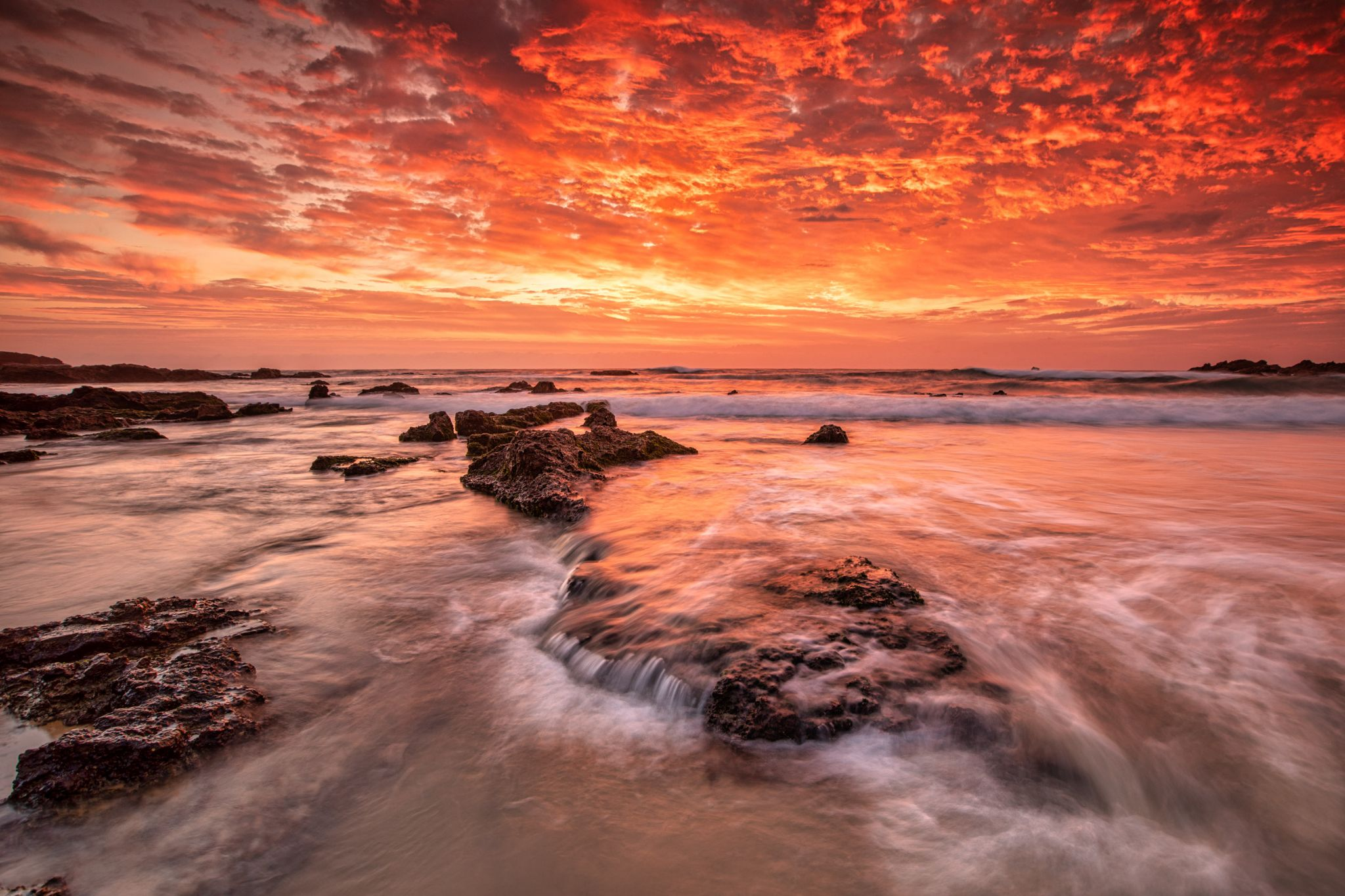 The bay is on fire Mystery Bay South Coast NSW, Australia