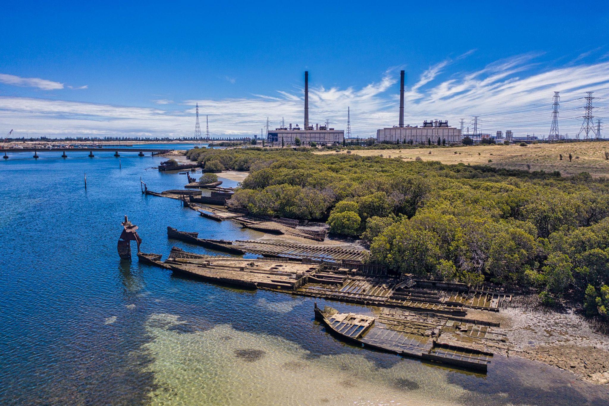 Garden Island Ships Graveyard, Port Adelaide, SA, Australia