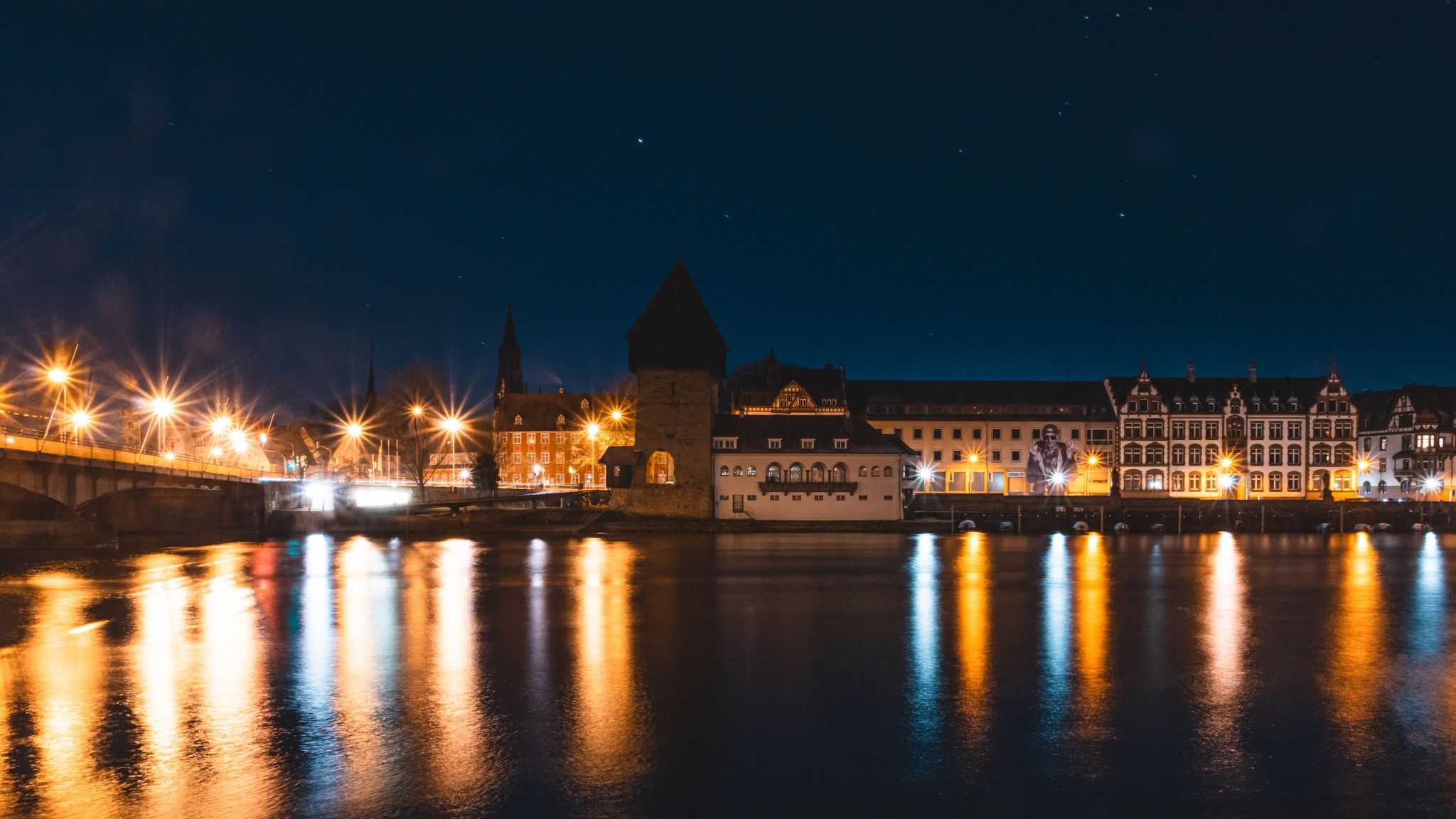 Old Konstanz from the other riverside, Germany