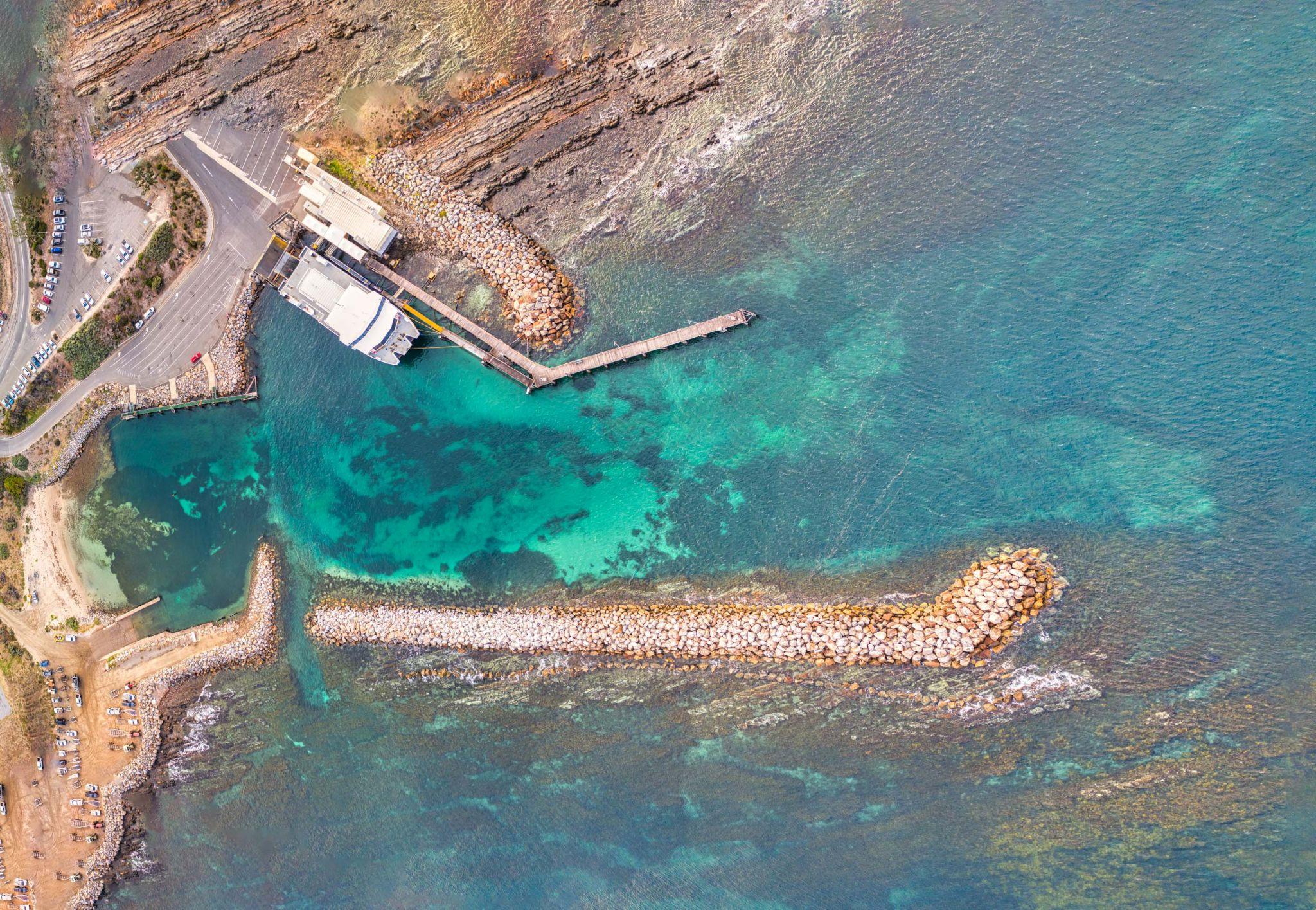 The ferry port at Cape Jervis South Australia, Australia