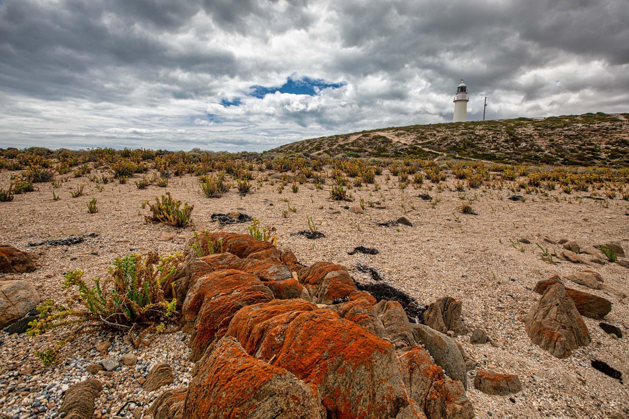 Corny Point Lighthouse sand, Yorke Peninsula, S A, Australia