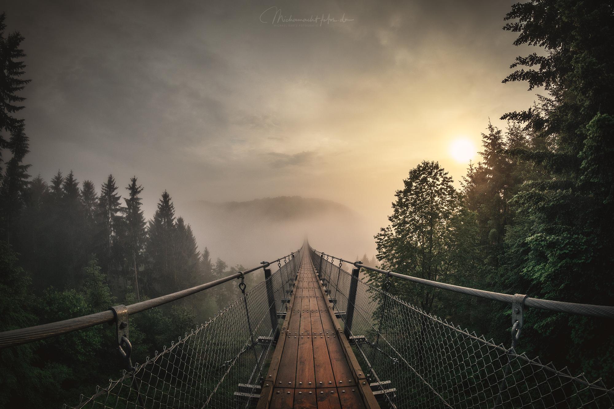 Deutschlands längste Hängeseilbrücke Geierlay, Germany