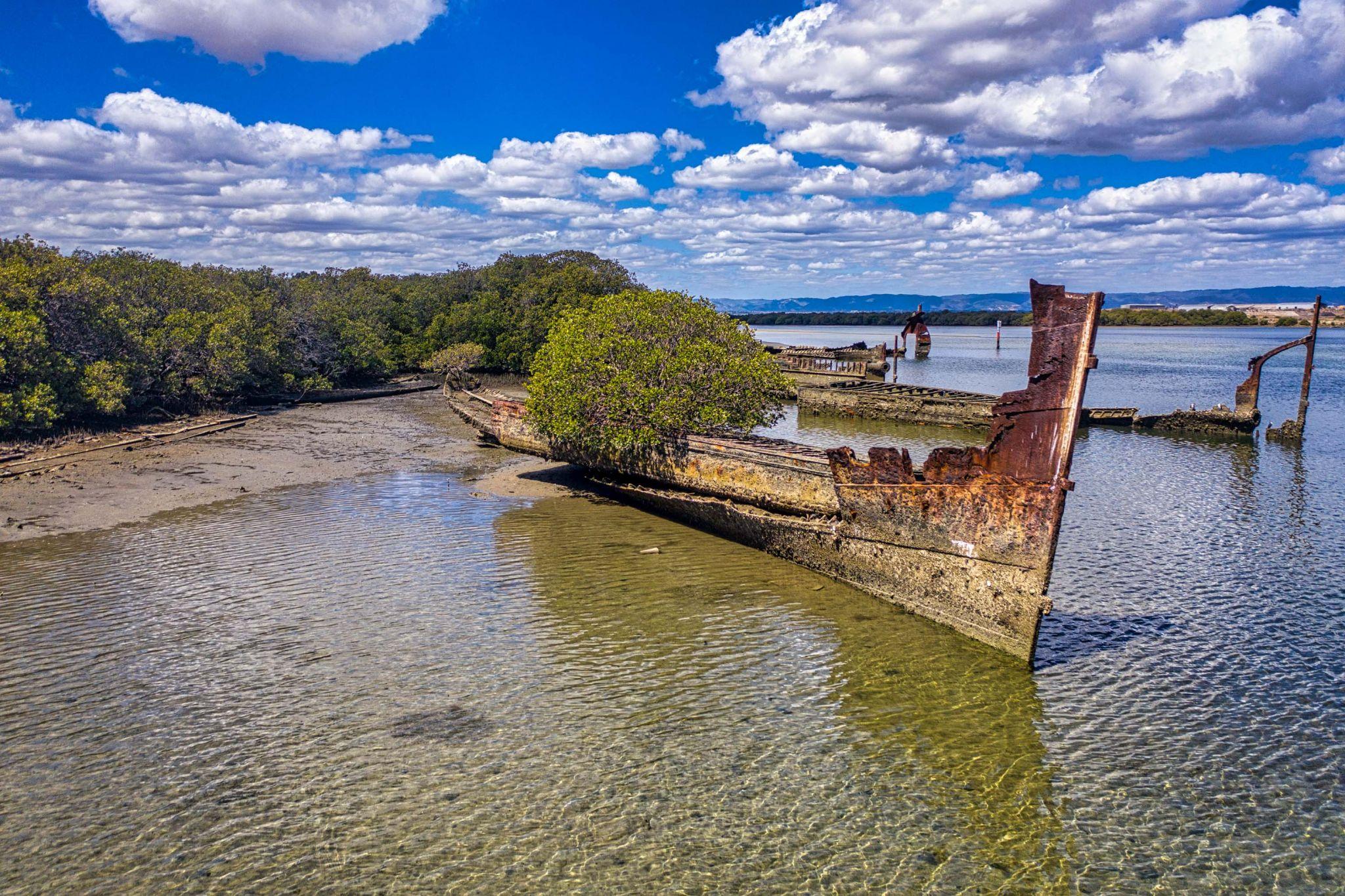 Garden Island, shipwrecks, Port Adelaide, South Australia, Australia