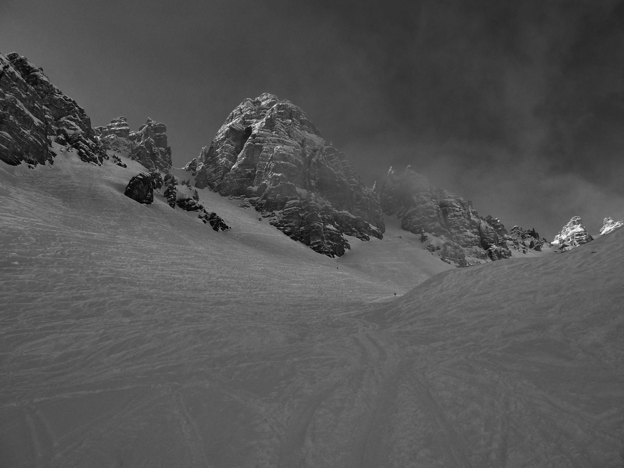 Lizumer Kar in winter time, Austria