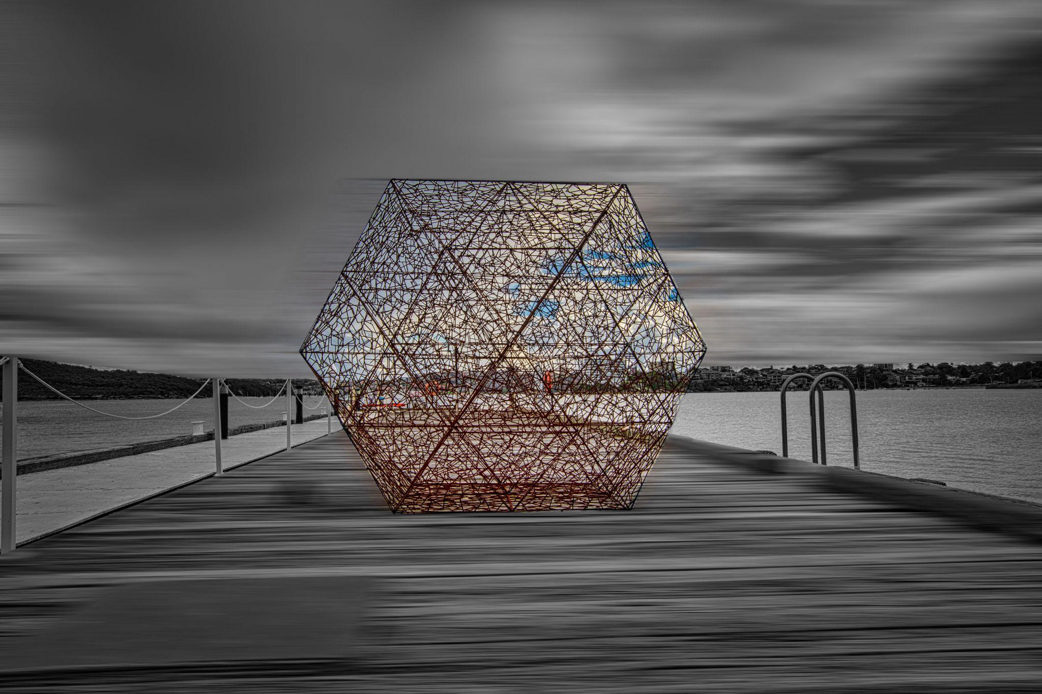 Mesh object on the Wharf, North Head, Sydney, Australia