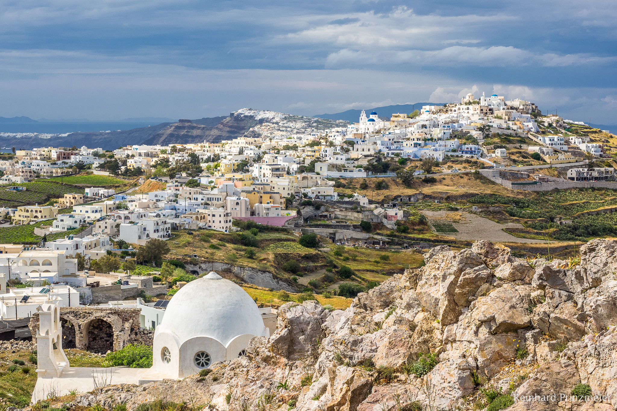 View over Pyrgos, Greece
