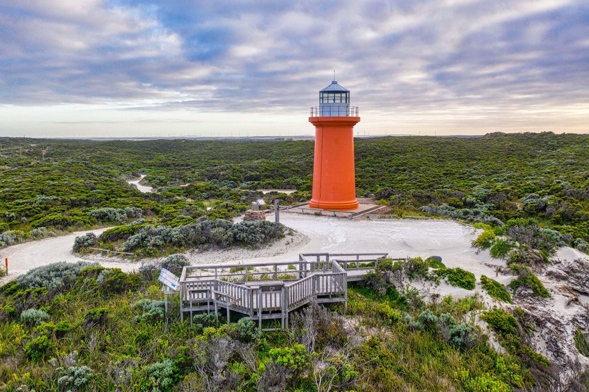 Cape Banks Lighthouse drone,South Australia, Australia