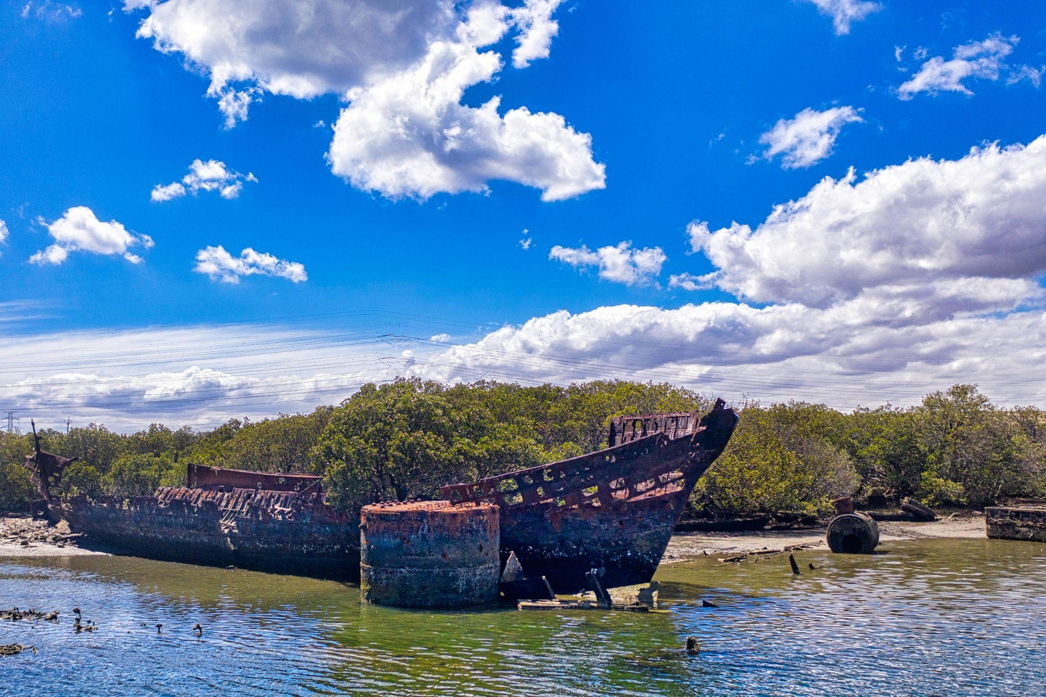 Garden Island ship graveyard, Port Adelaide, South Australia, Australia