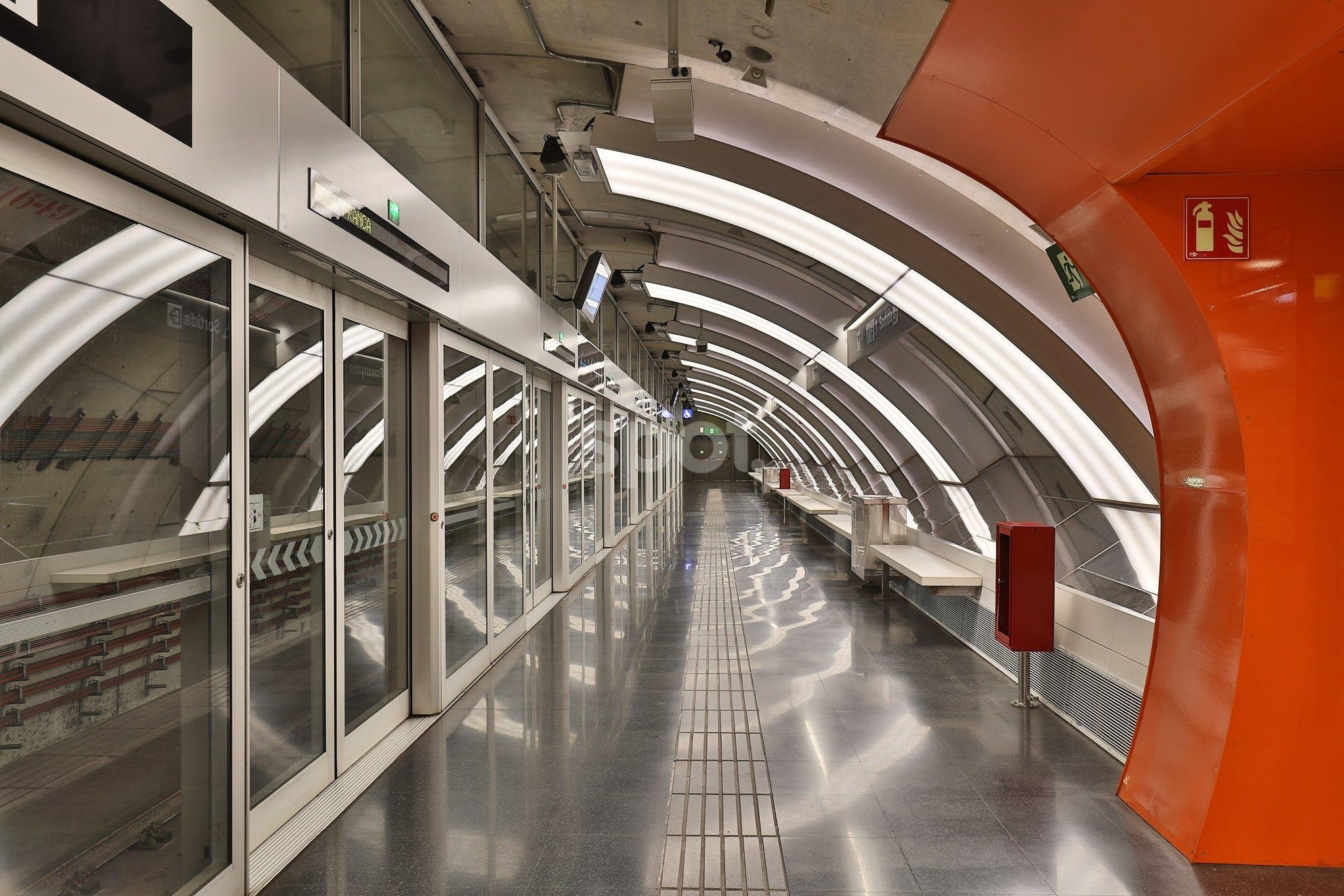 Estacion Metro Barcelona, Spain