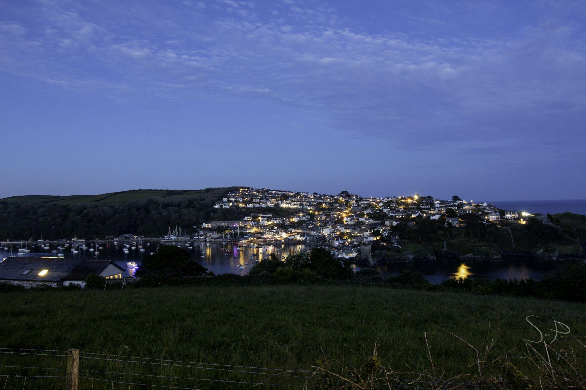 Fowey Port and side view of Polruan, United Kingdom