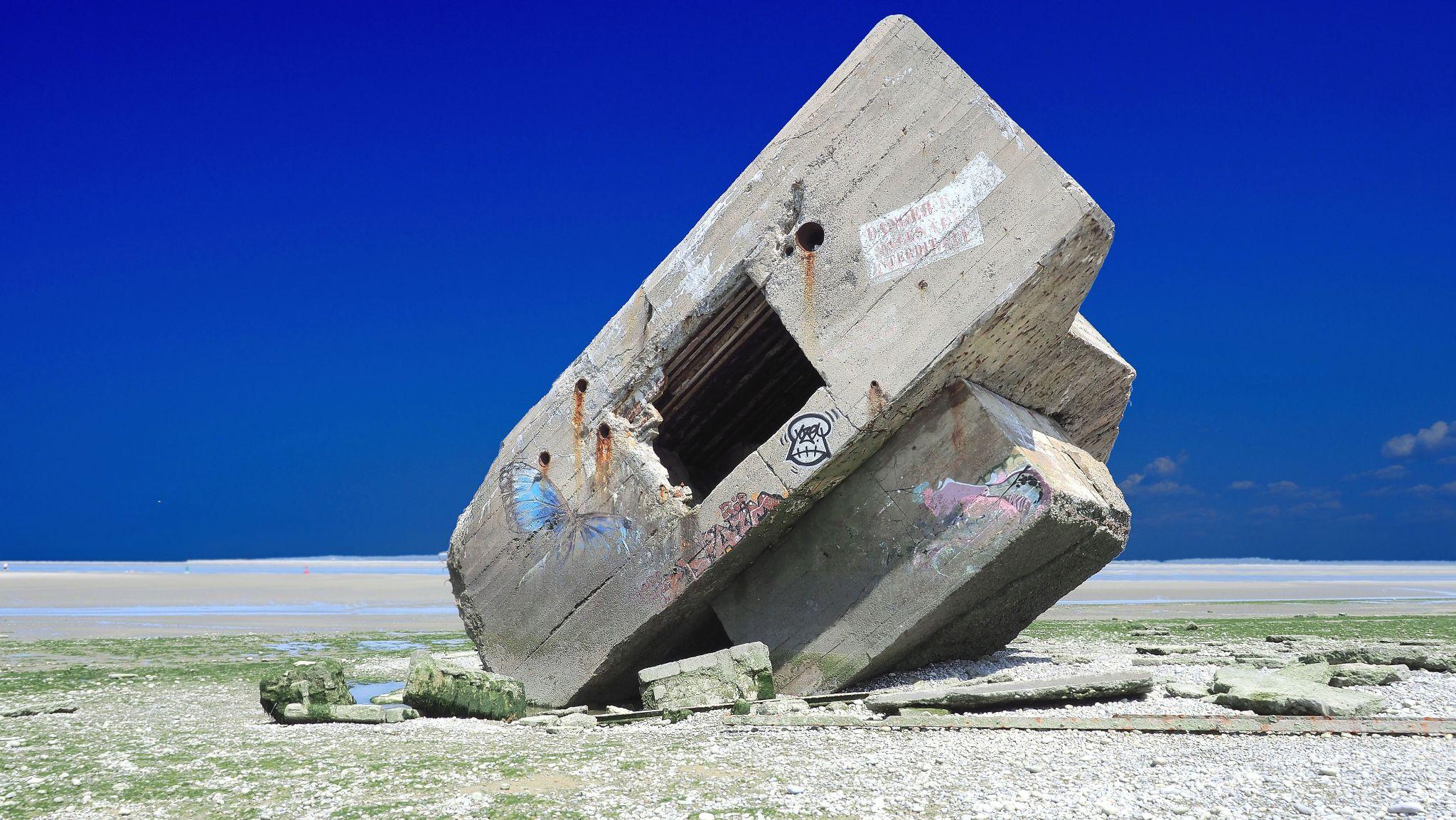 Der Bunker von Hourdel, France