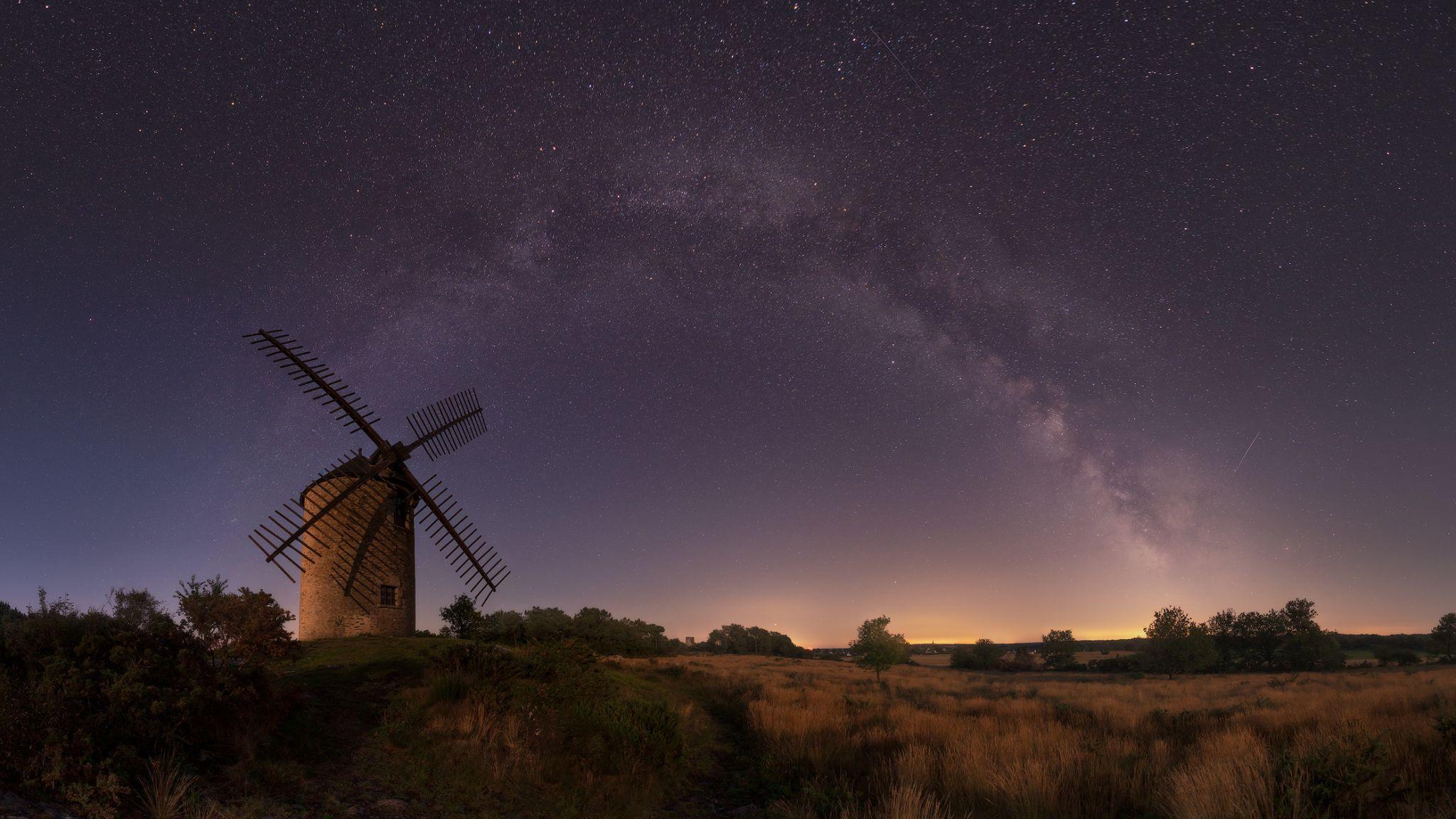 La butte des cinq moulins, France