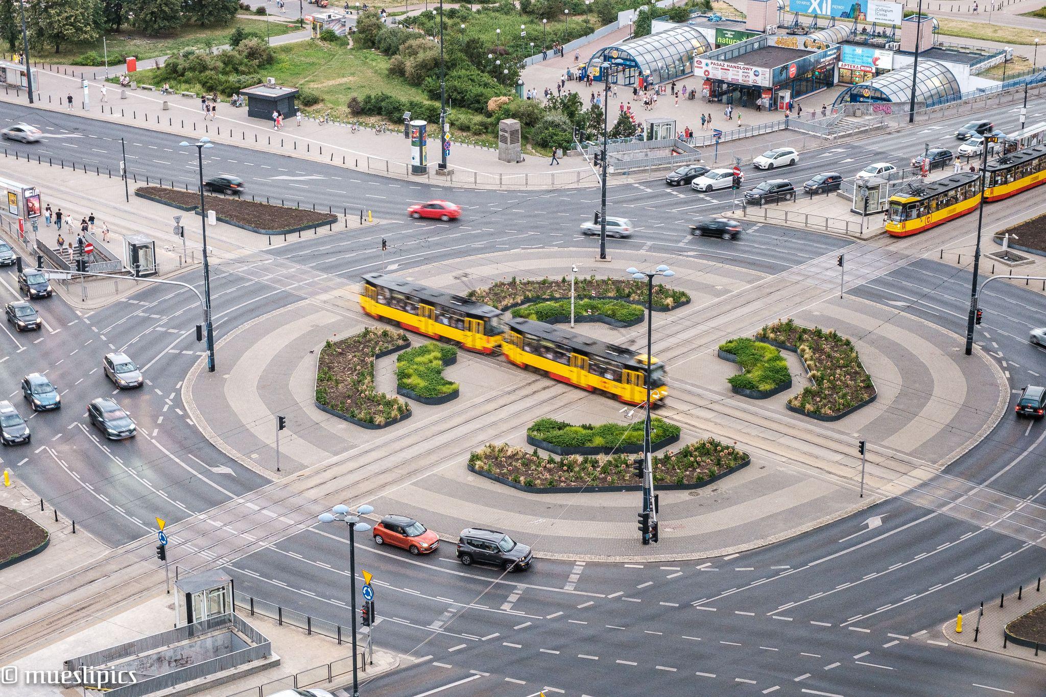 Roundabout Warsaw Centrum / Rondo Dmowskiego, Poland