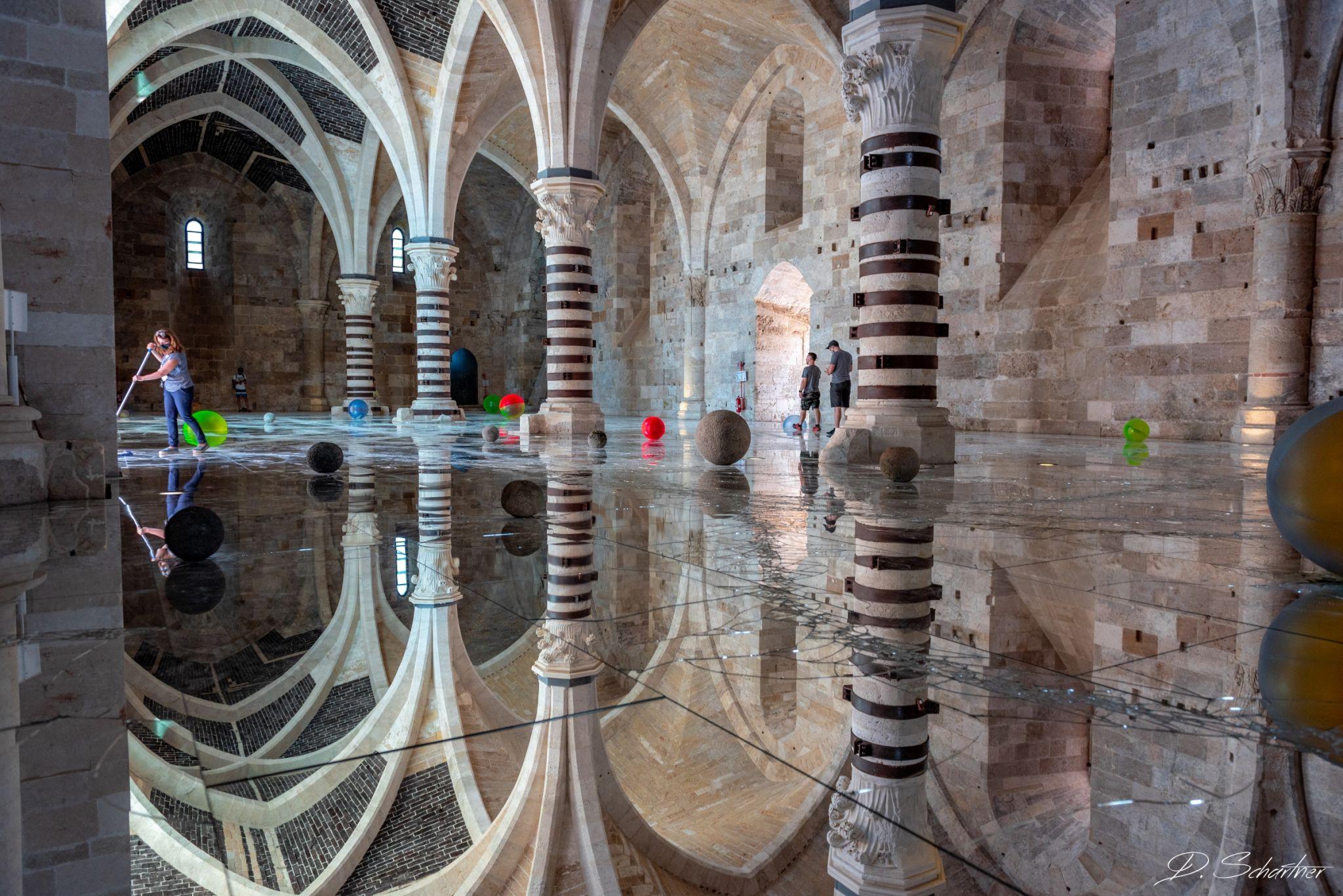 Castello Maniace inside, Italy