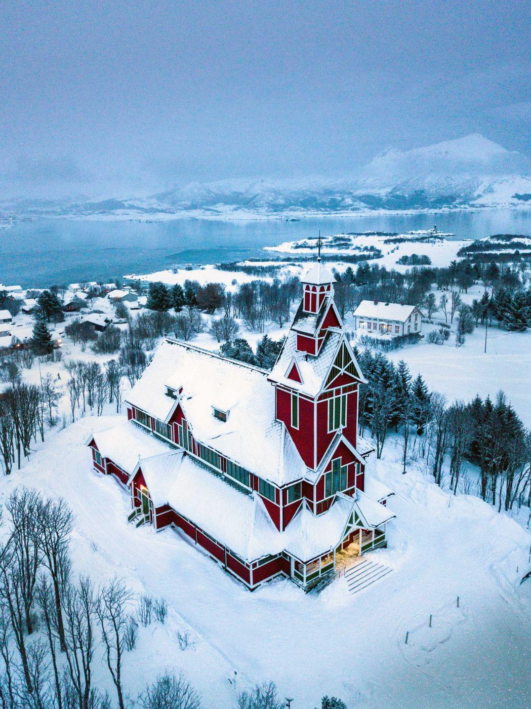 Church Buksnes [Drone], Norway
