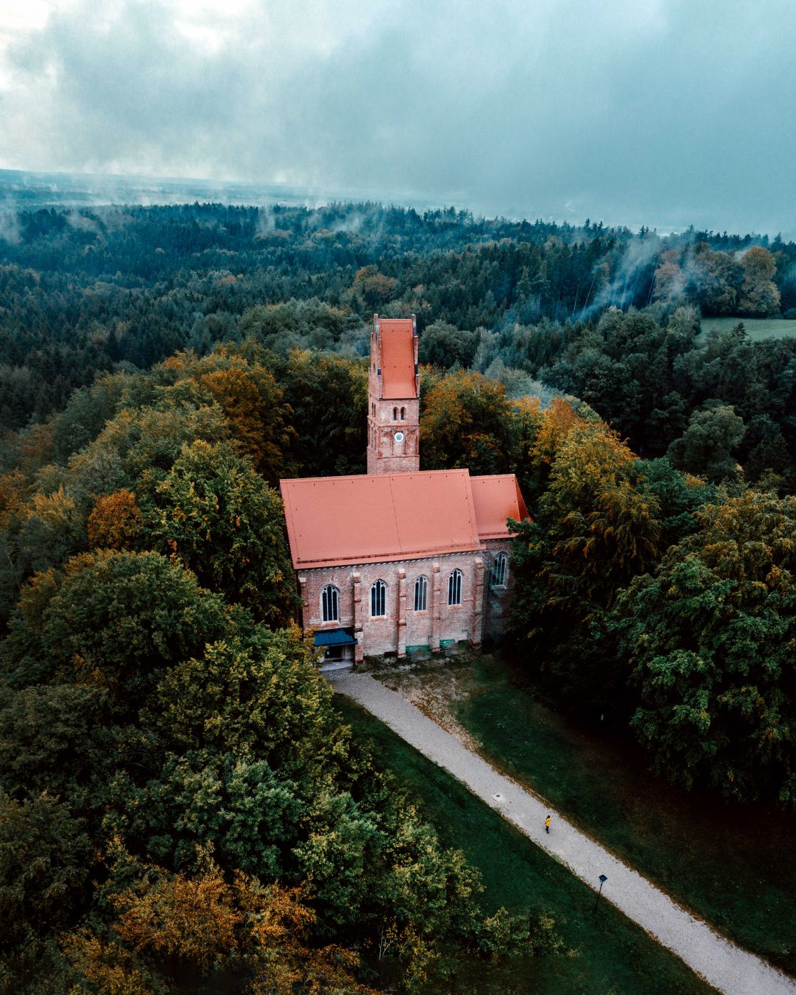 Oberwittelsbach Castle Church [Drone], Germany